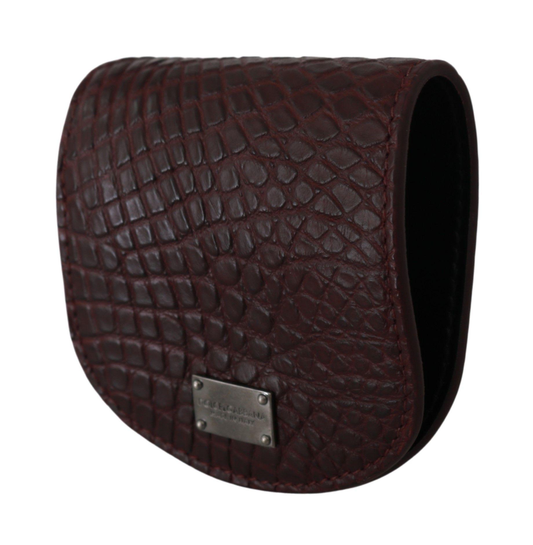 Dolce & Gabbana Bordeaux Brocade Slim Fit Vest