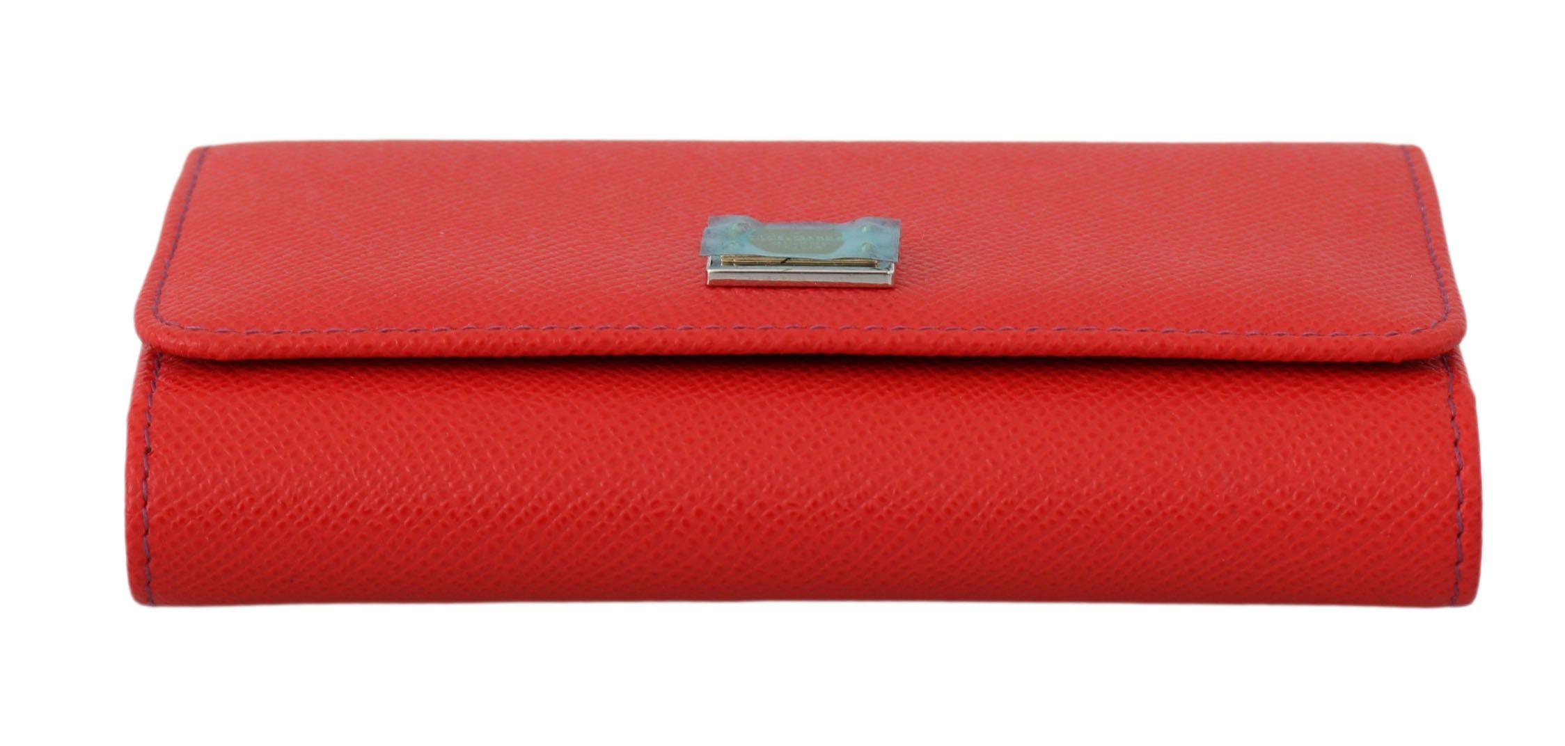 Dolce & Gabbana Red Blue Leather Hand Borse Phone Sicily VON Purse