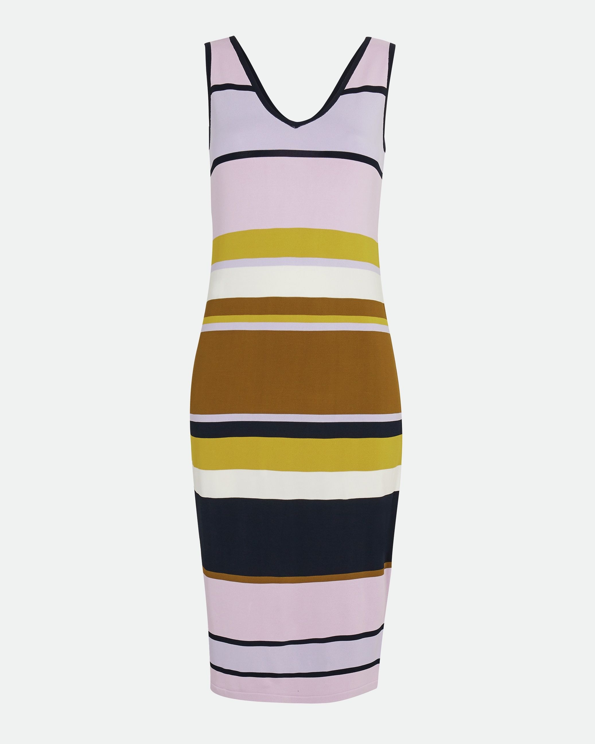 Ted Baker Izlie Stripe Knitted Maxi Dress, Dusky Pink