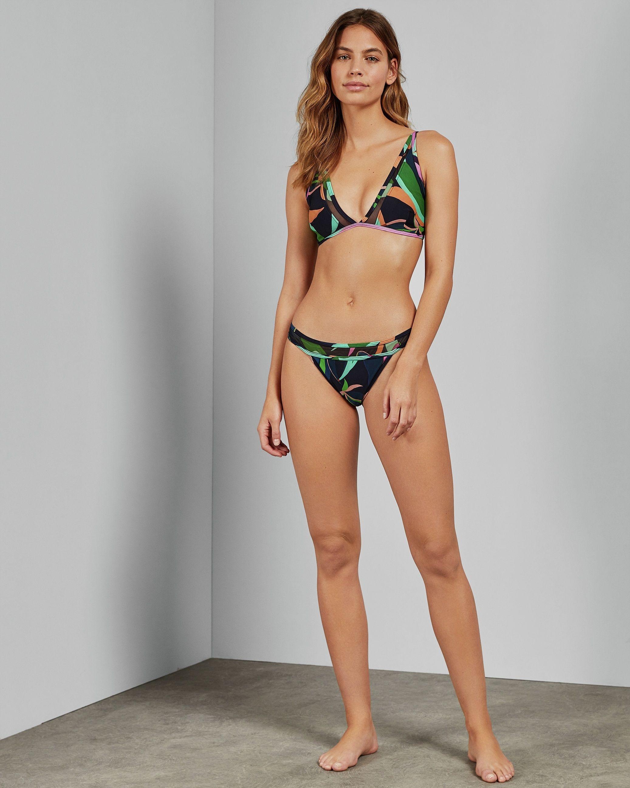 Ted Baker Janmay Supernatural Mesh Bikini Top, Navy