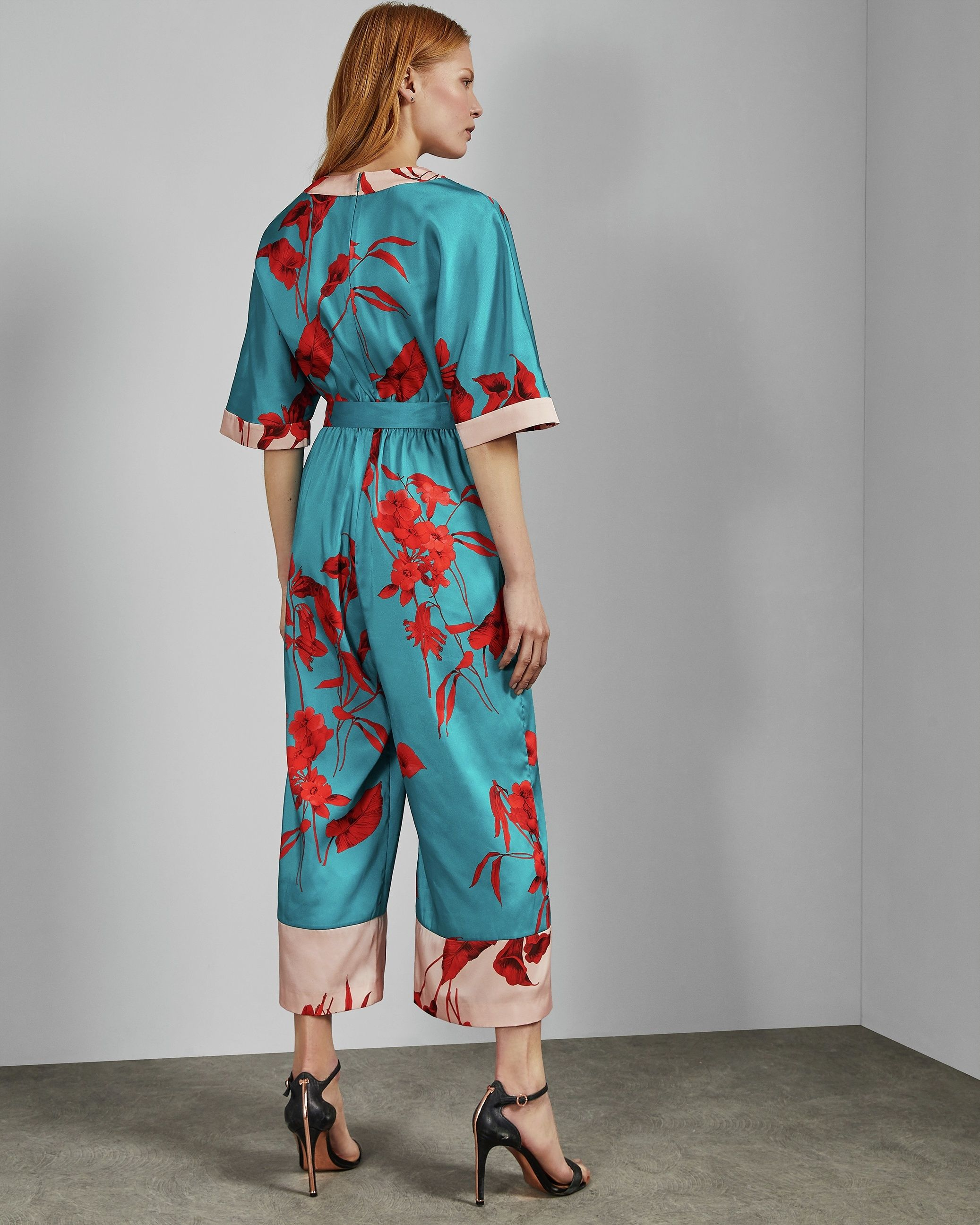 Ted Baker Jowsey Fantasia Wrap Jumpsuit in Turquoise
