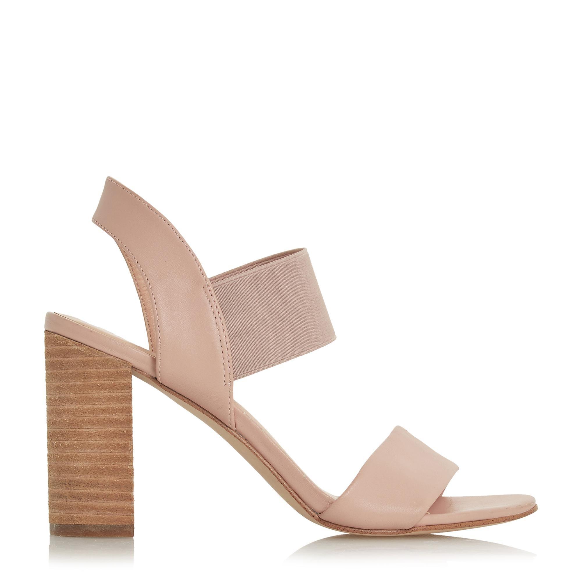 Dune Ladies JUMPER Double Strap High Block Heel Sandals