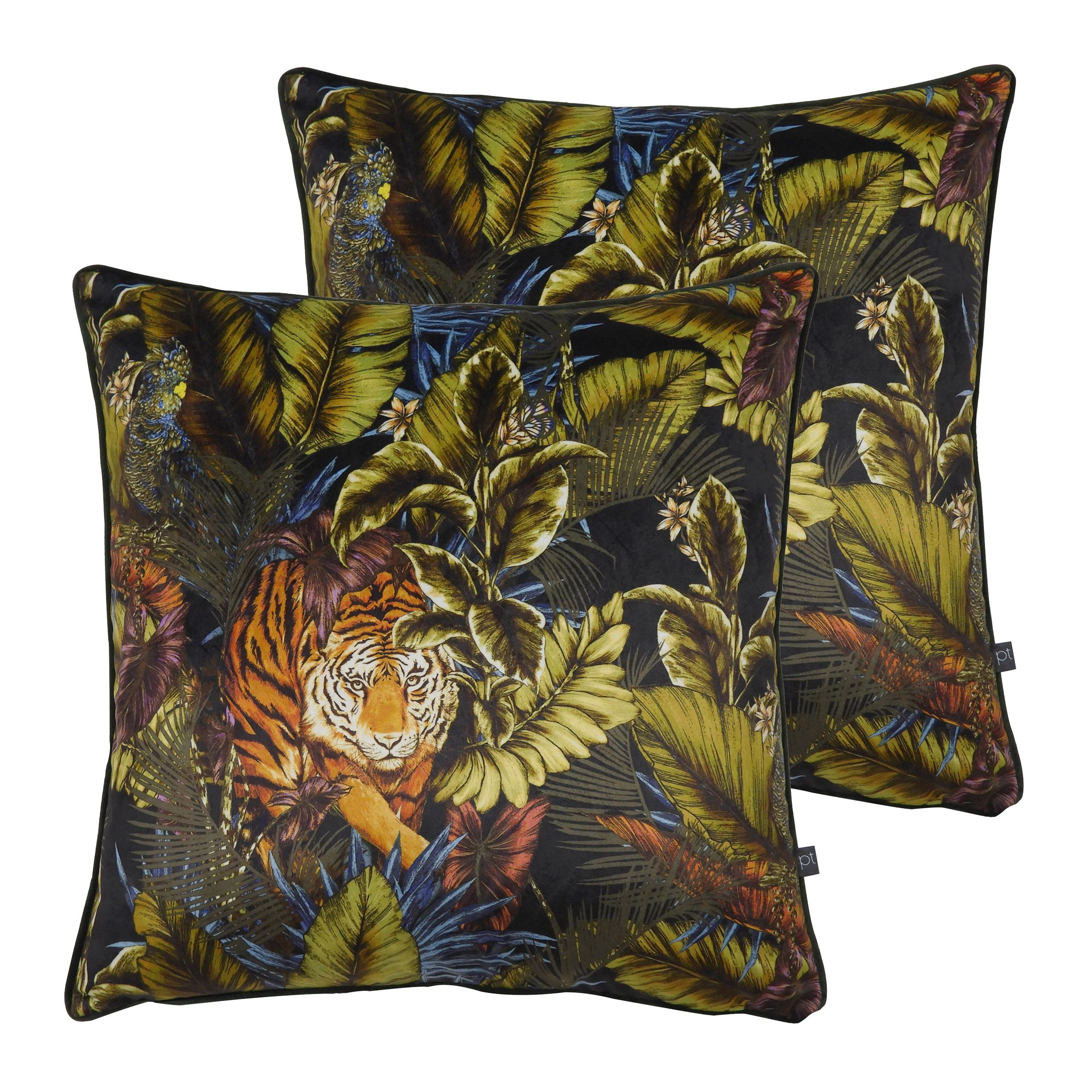 Bengal Tiger Cushions (Twin Pack)