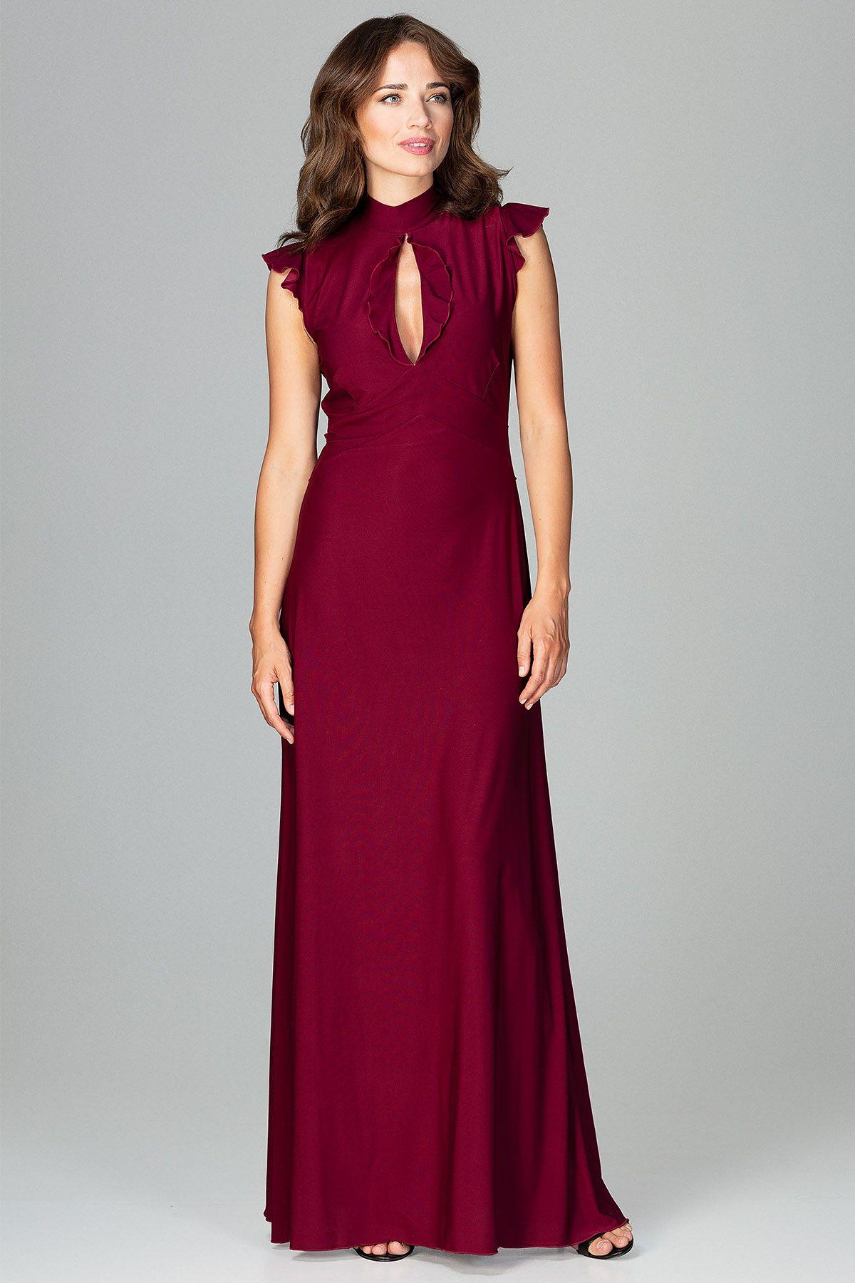Maxi Dress With Teardrop-Shaped Neckline