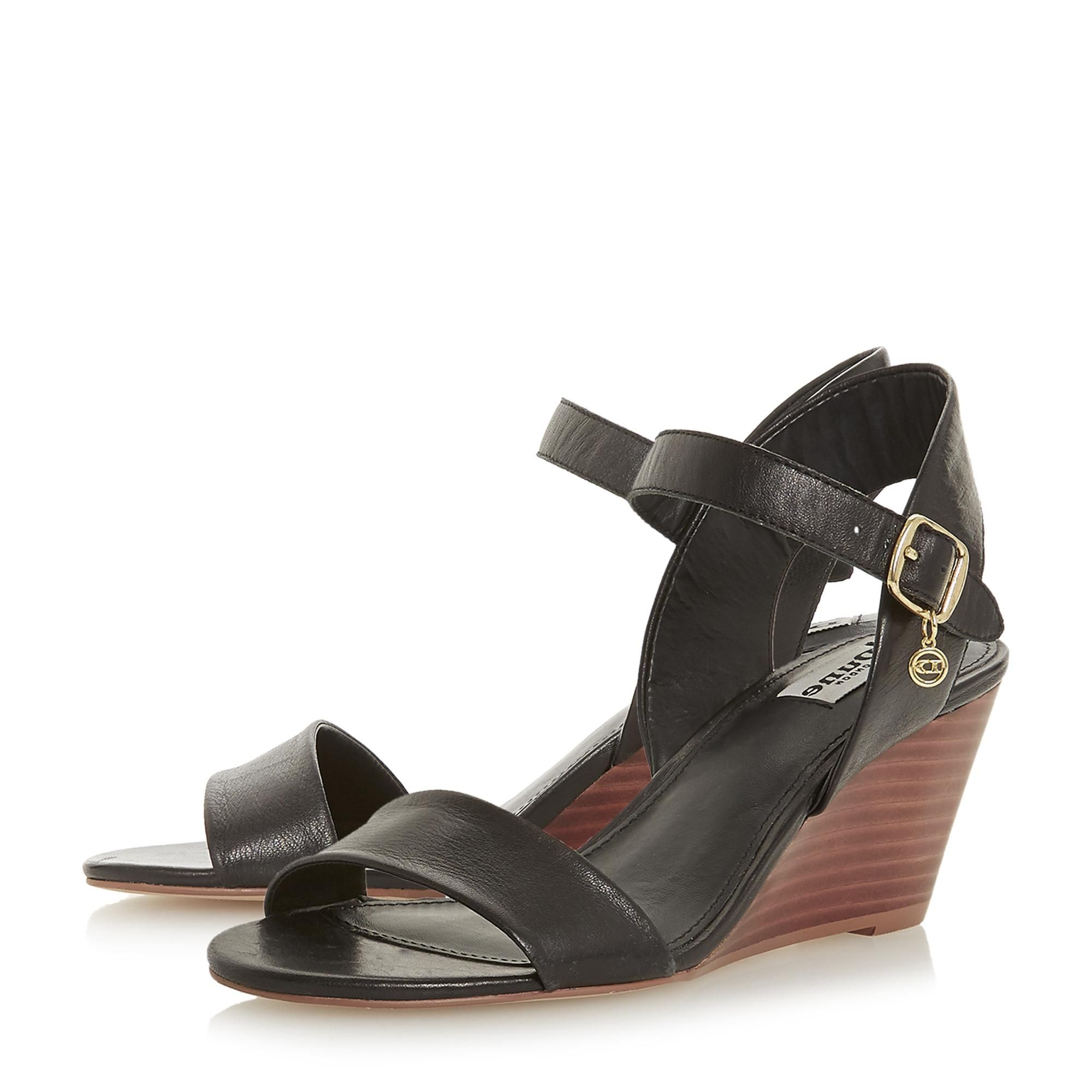 Dune Ladies KENDO Mid Stacked Wedge Heel Sandal
