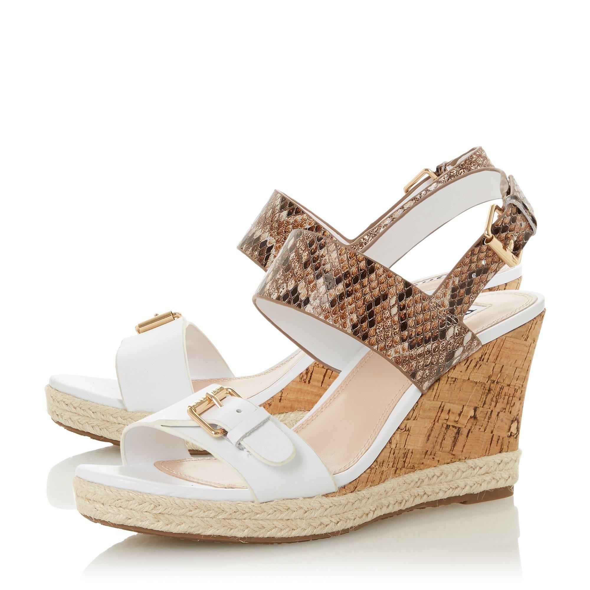 Dune Ladies KENDYL Leather Wedge Sandals