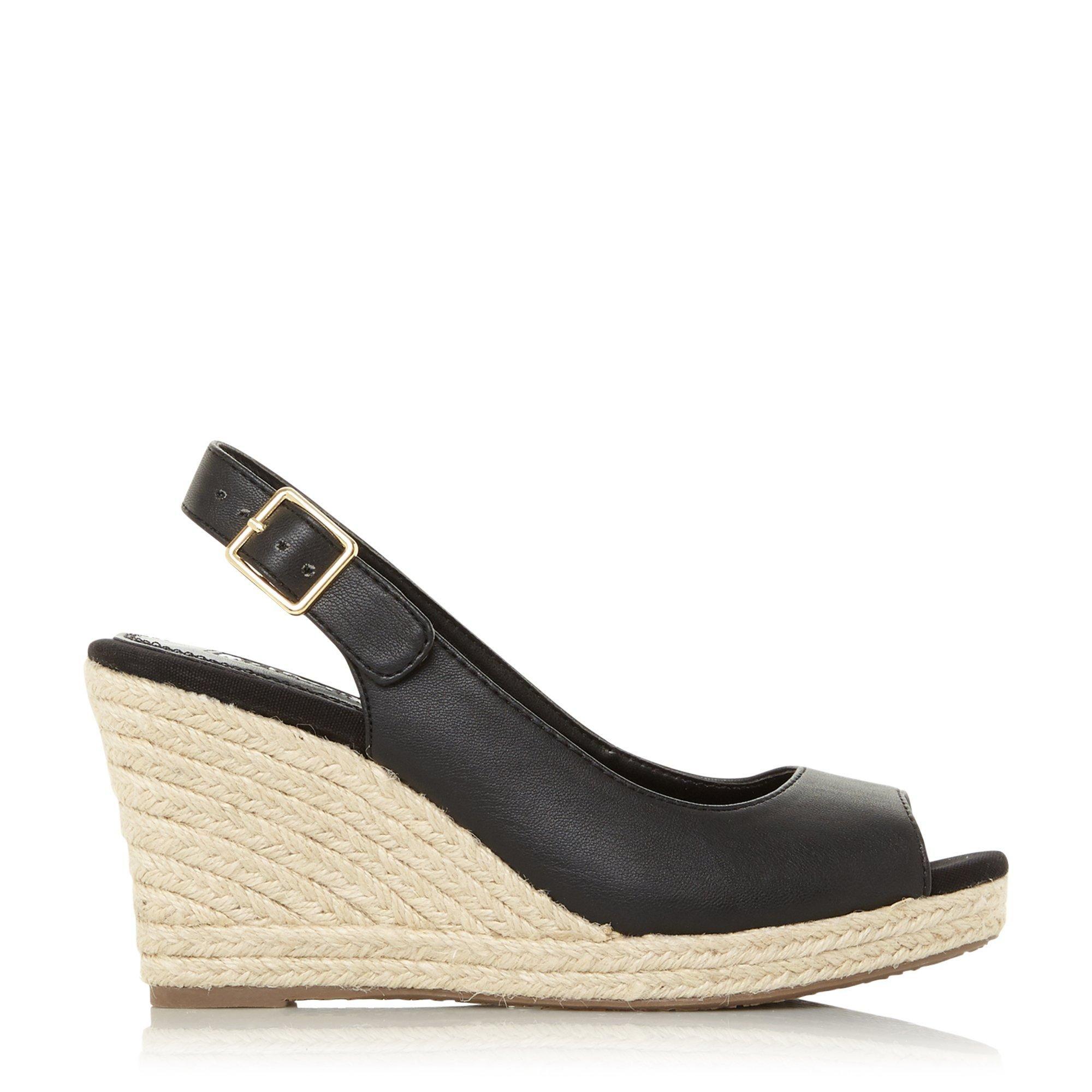 Dune Ladies KICKA Slingback Espadrille Wedge Sandals