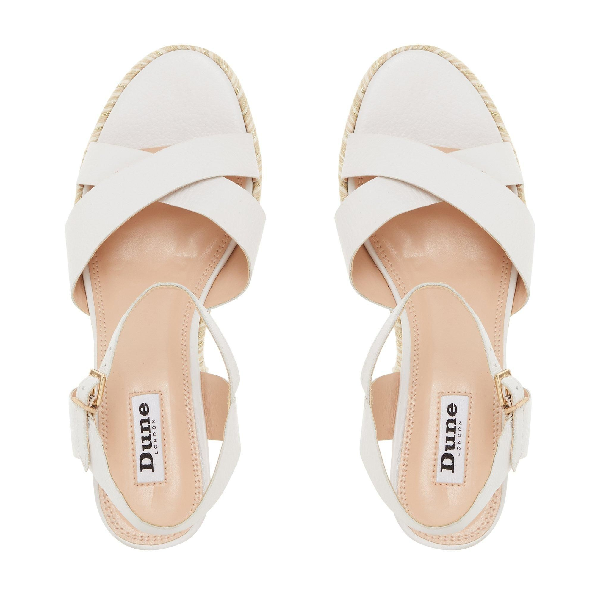 Dune Ladies KIWII Espadrille Trim Wedge Heel Sandals