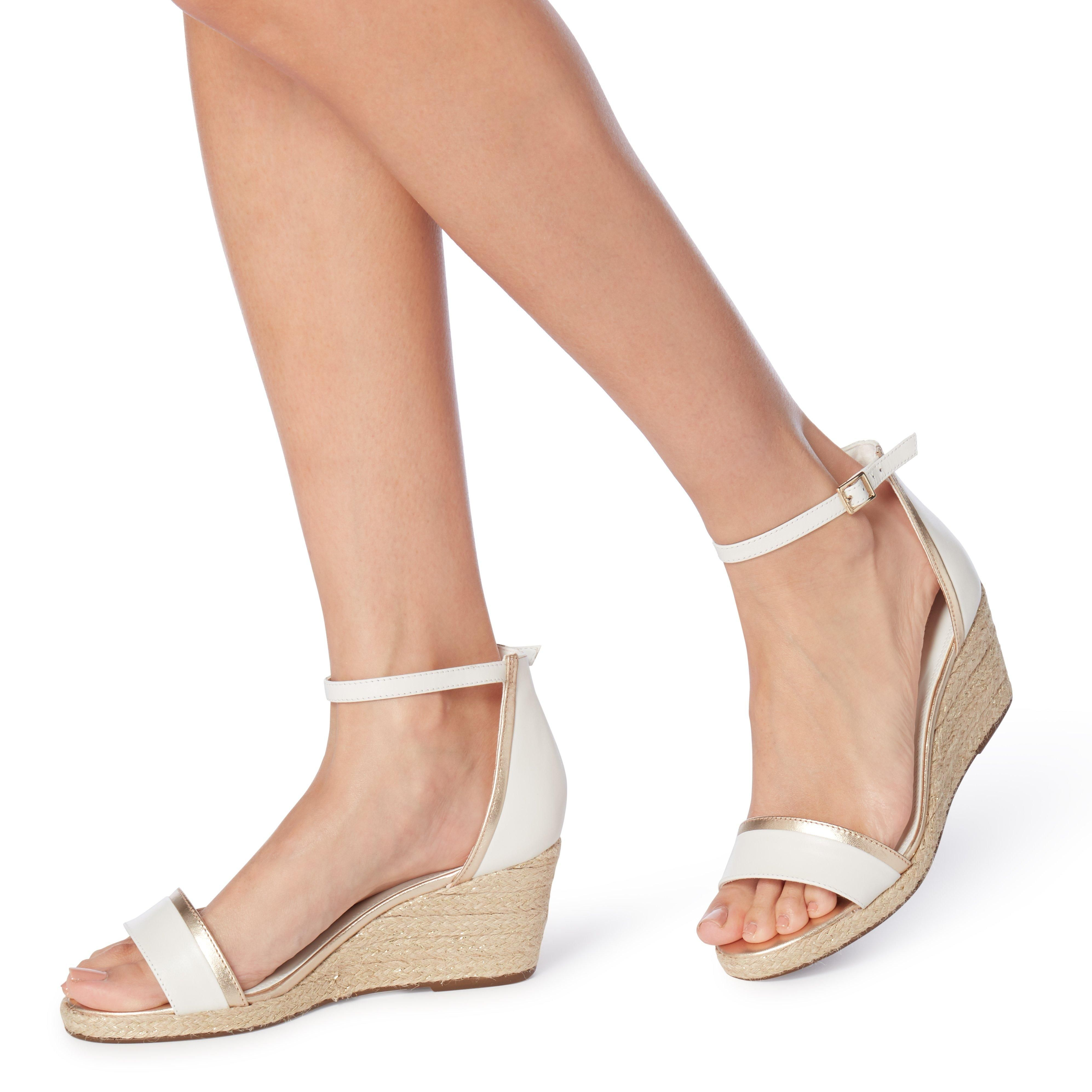 Dune Ladies KLARICE Espadrille Mid-Wedge Sandals