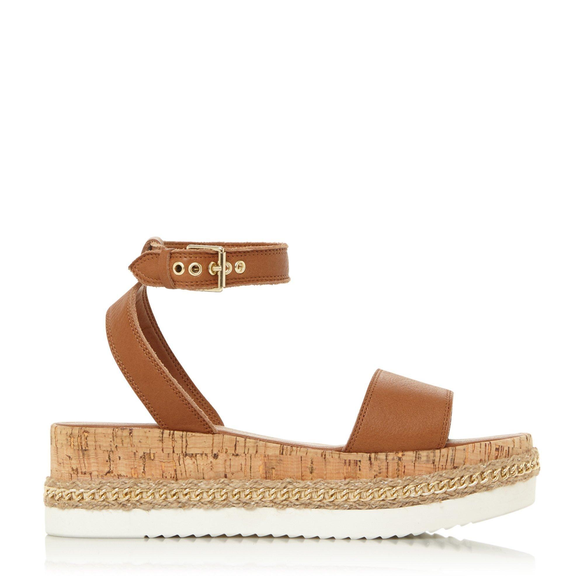 Dune Ladies KREST Chain Detail Flatform Sandals