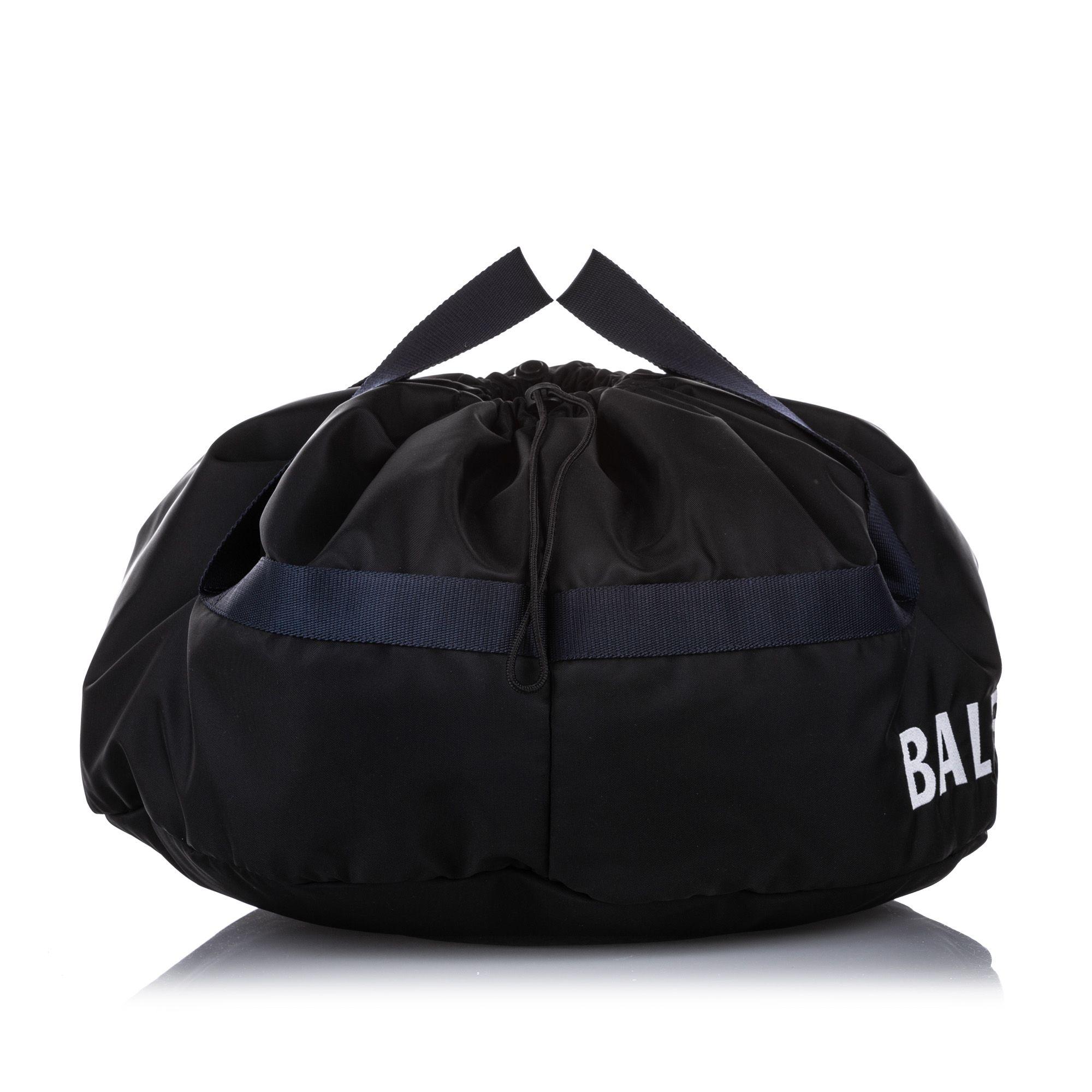 Vintage Balenciaga S Wheel Everyday Nylon Travel Bag Black