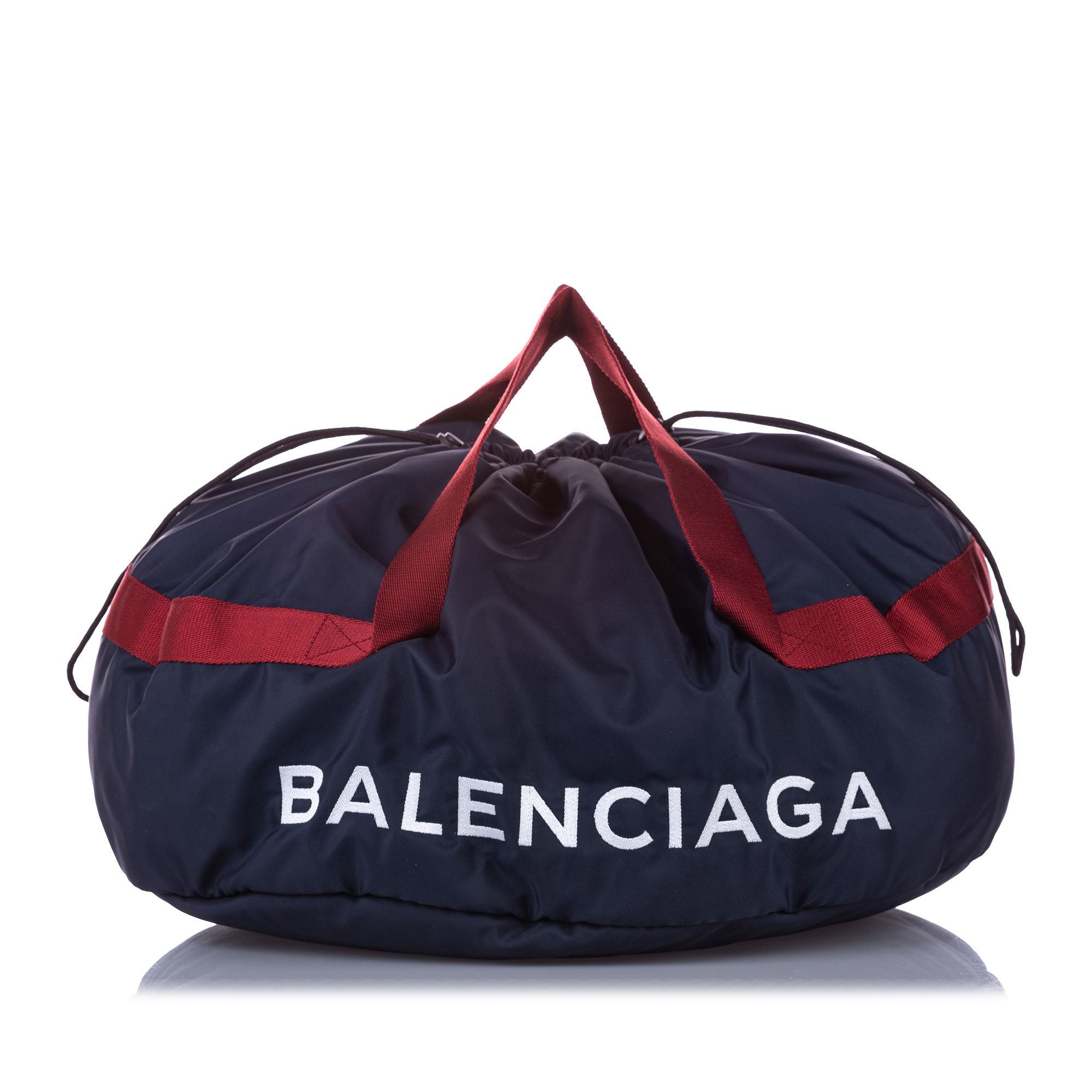 Balenciaga S Wheel Everyday Nylon Travel Bag Black