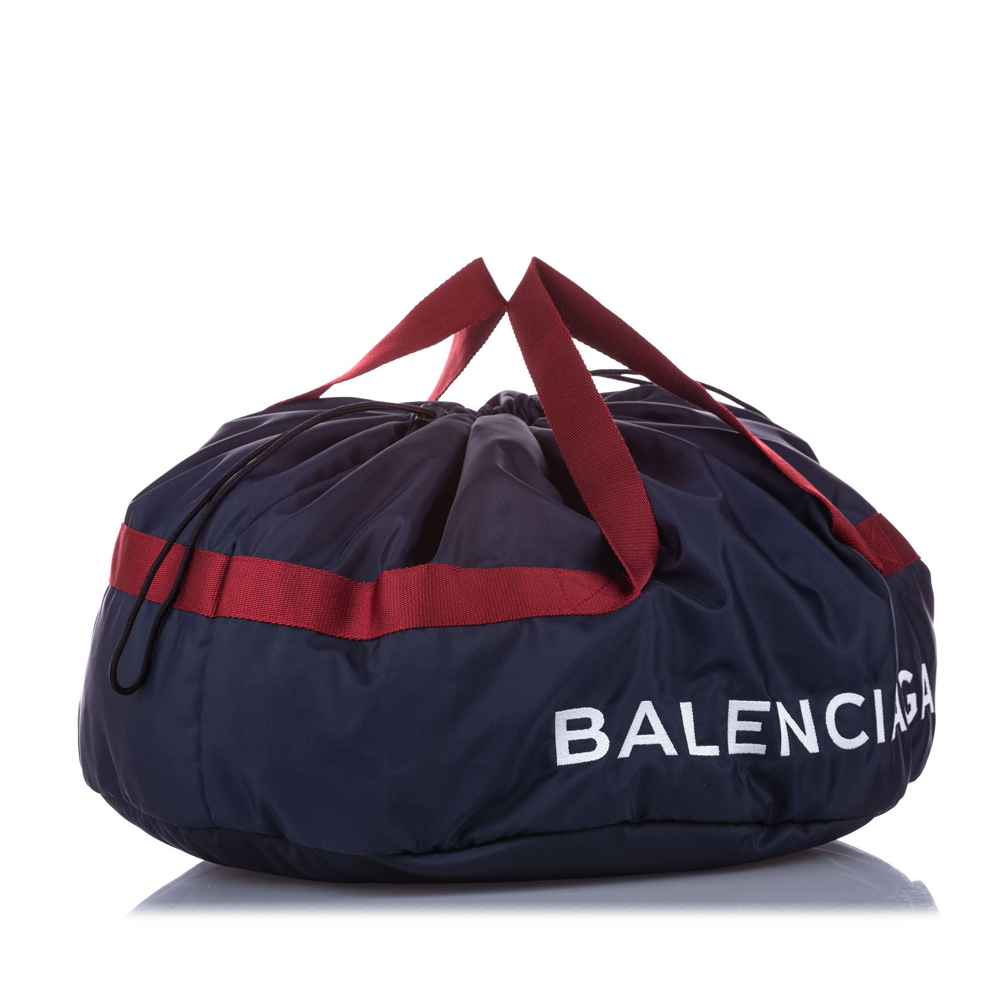 Balenciaga S Wheel Everyday Nylon Travel Bag Black