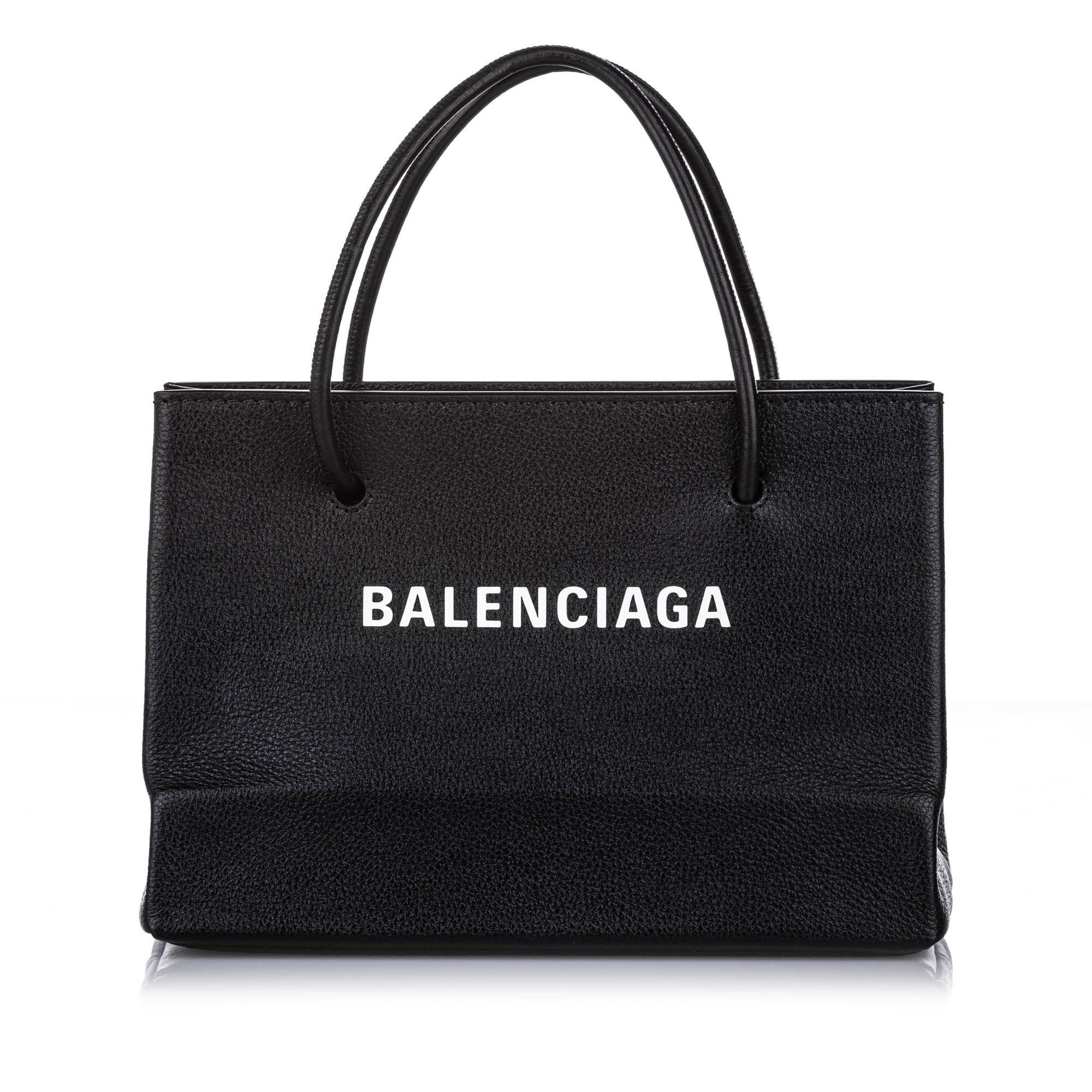 Balenciaga S Shopping Leather Satchel Black