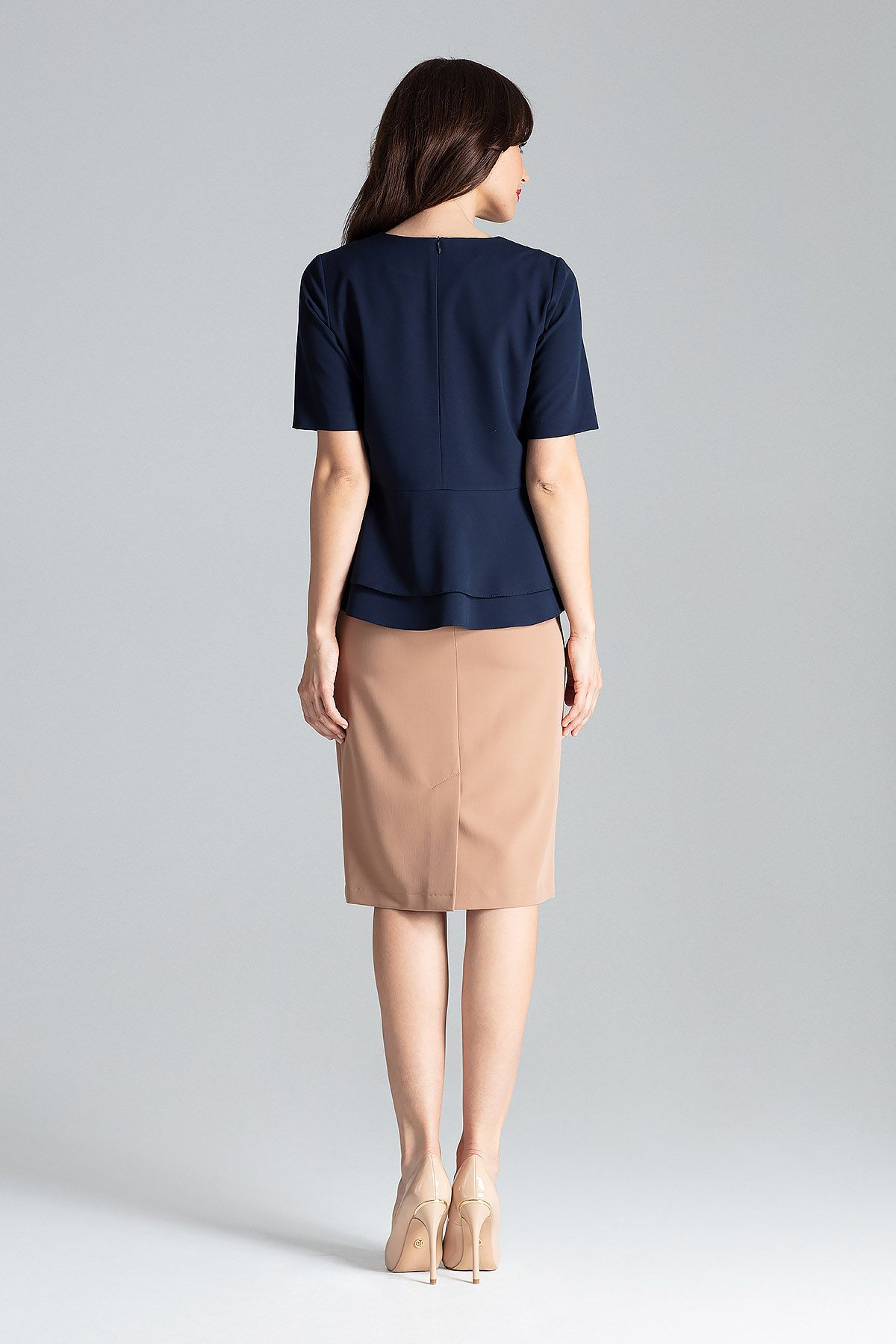 Blouse With Double Basquine