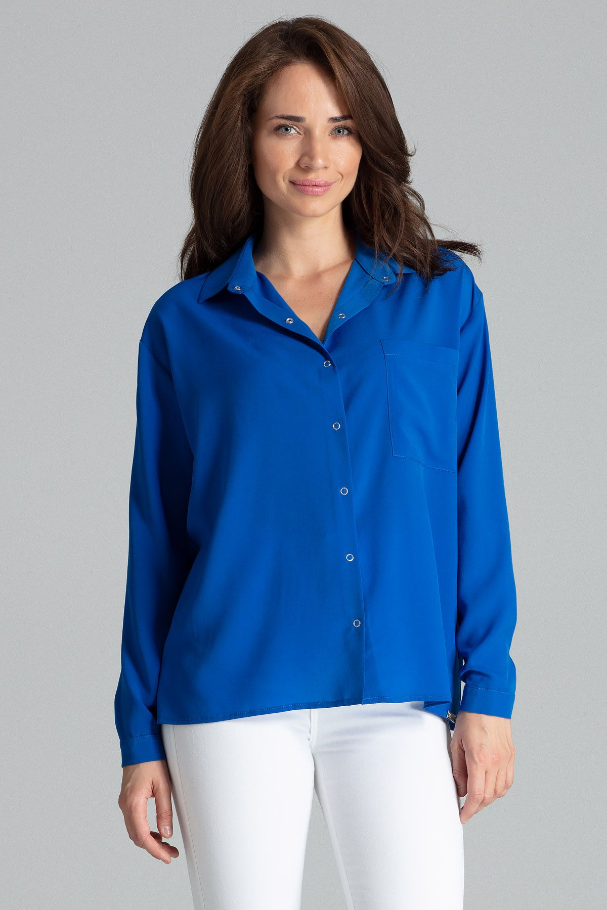 Sapphire Classic Blouse With a Collar