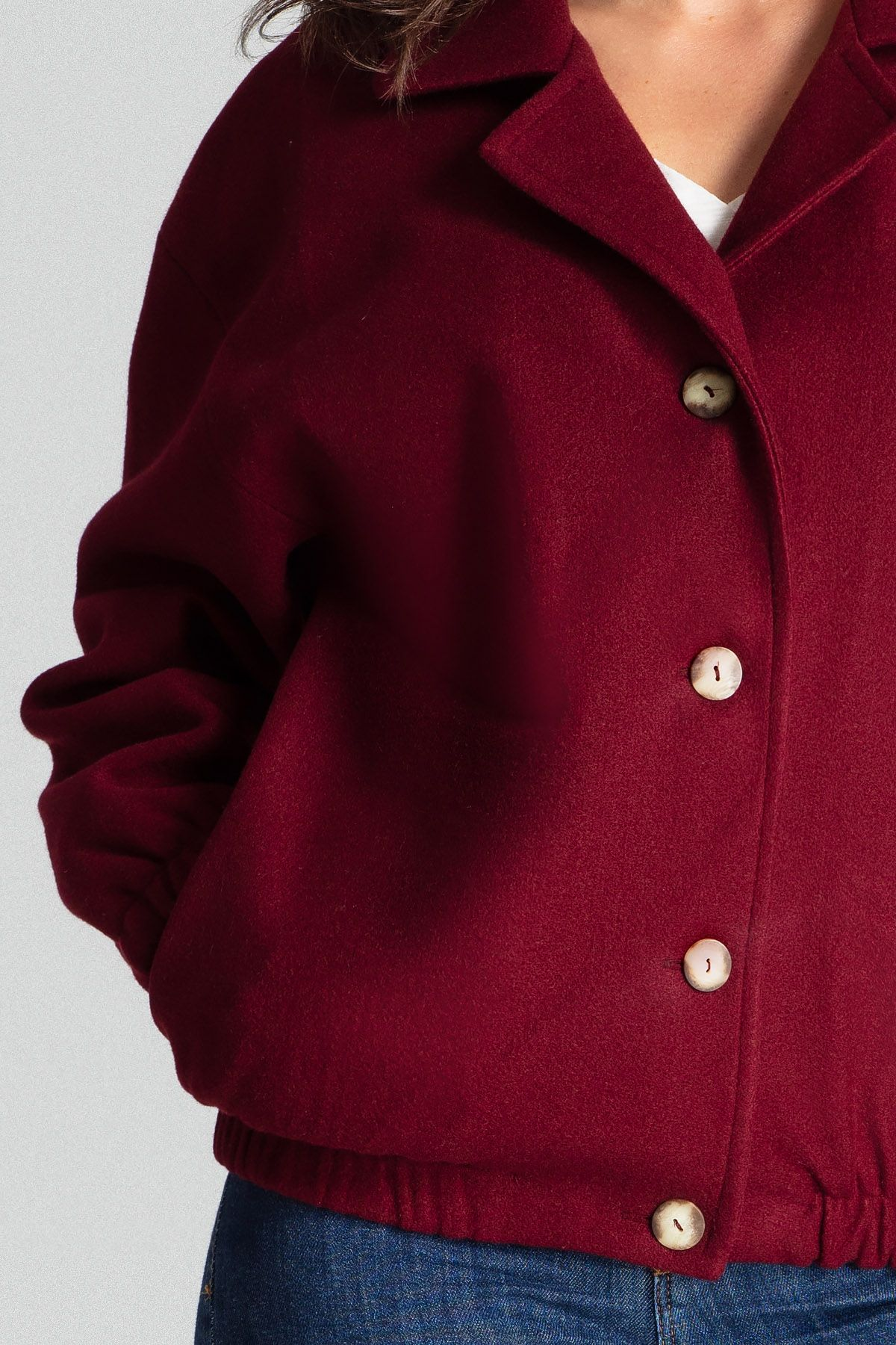 Deep Red Short Jacket