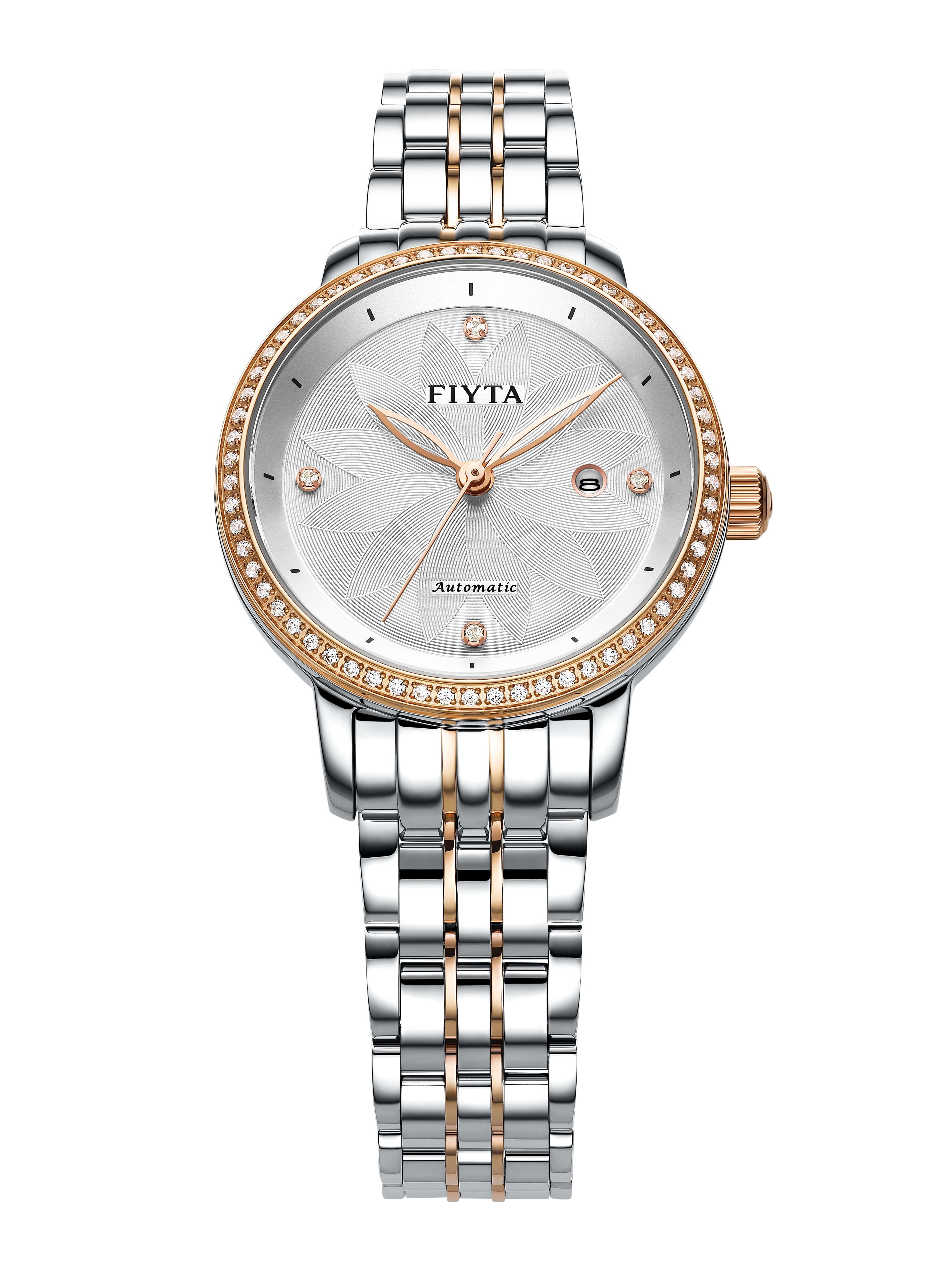 Fiyta Ladies Automatic Two Tone Floriography Watch