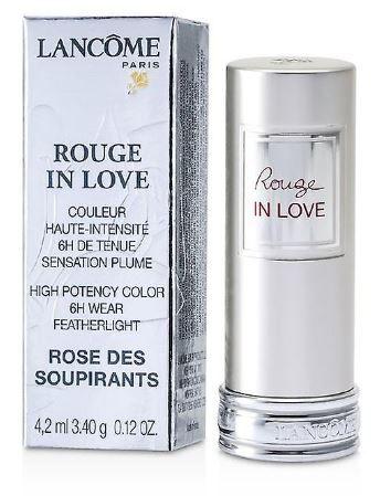 LANCOME ROUGE IN LOVE LIPSTICK 351B ROSE DES SOUPIRANTS 4.2ML