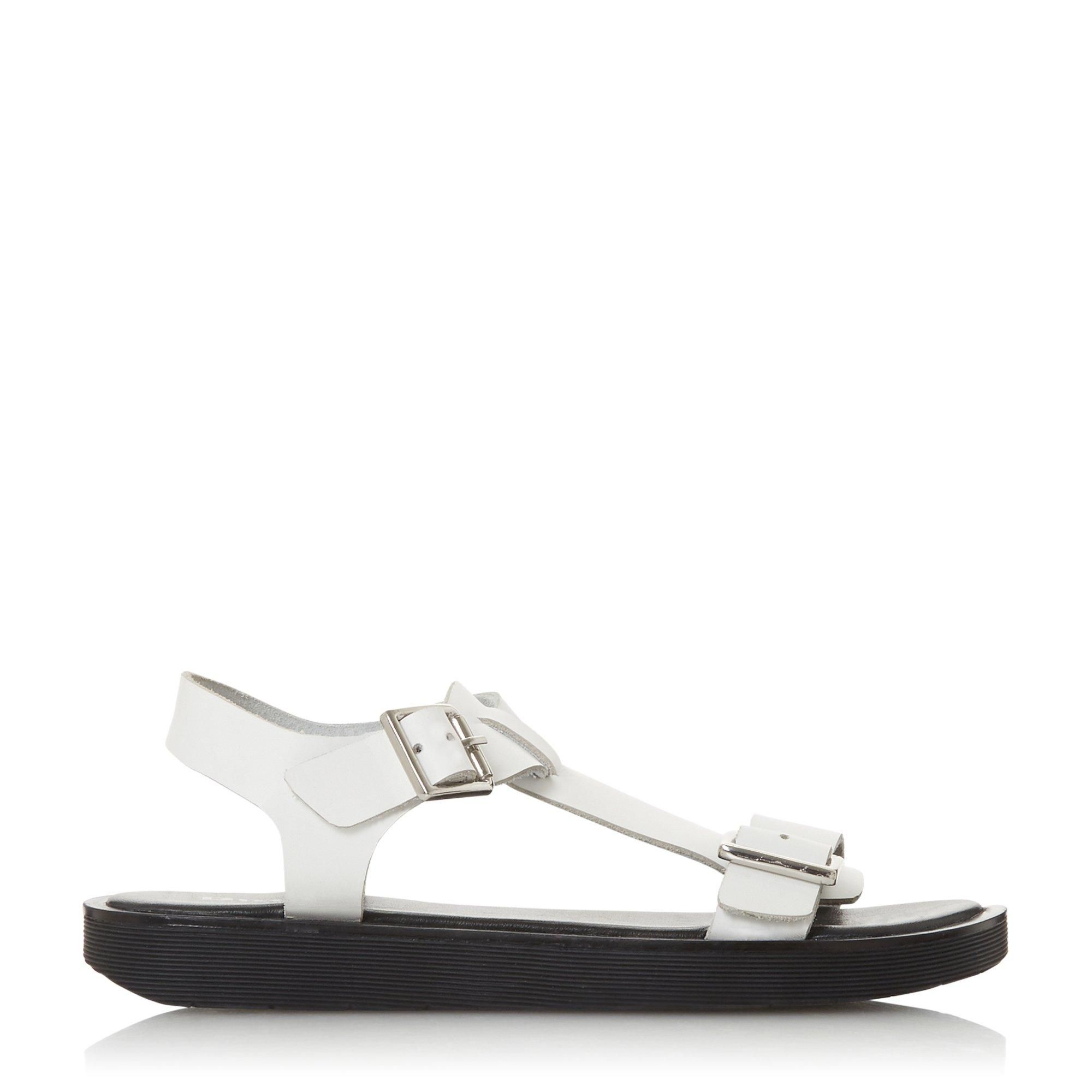 Dune Ladies LANGLIE T Chunky Buckle Flat Sandals