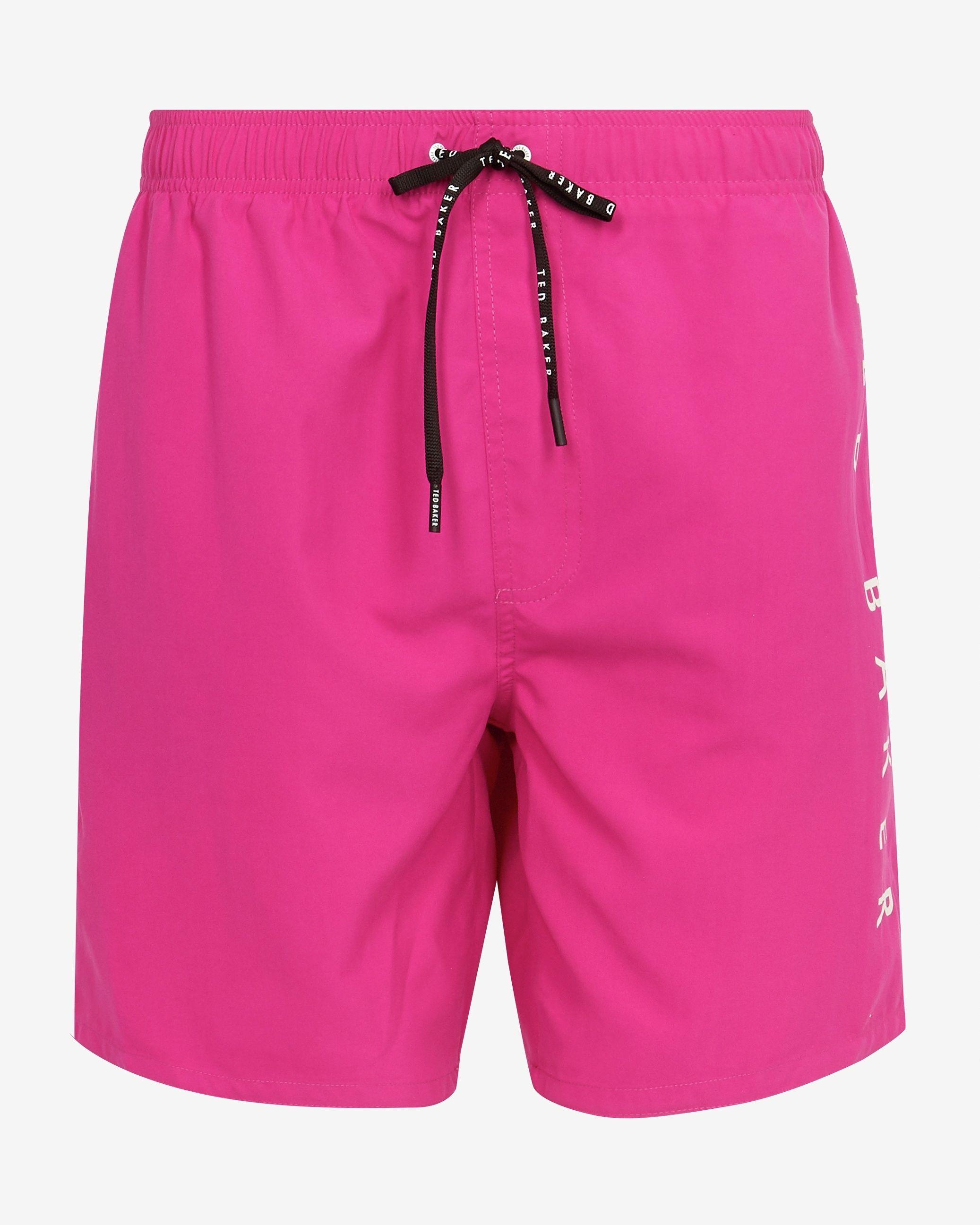 Ted Baker Legman Branded Shorty Swimshort, Pink