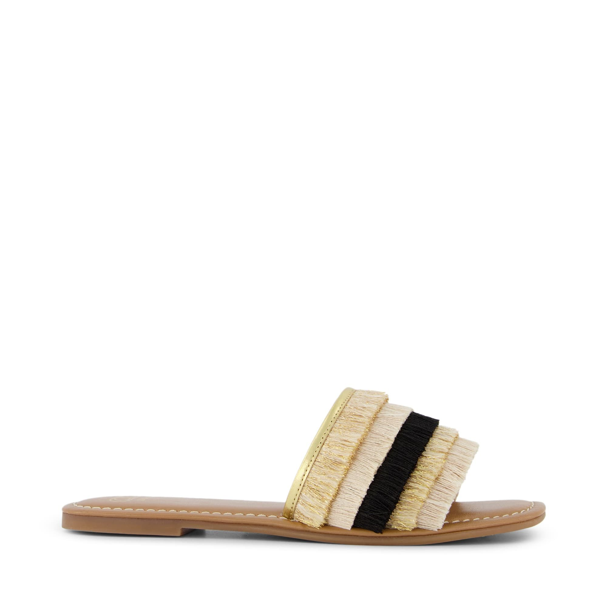 Dune Ladies LEMONEY Fringed Slider Sandals