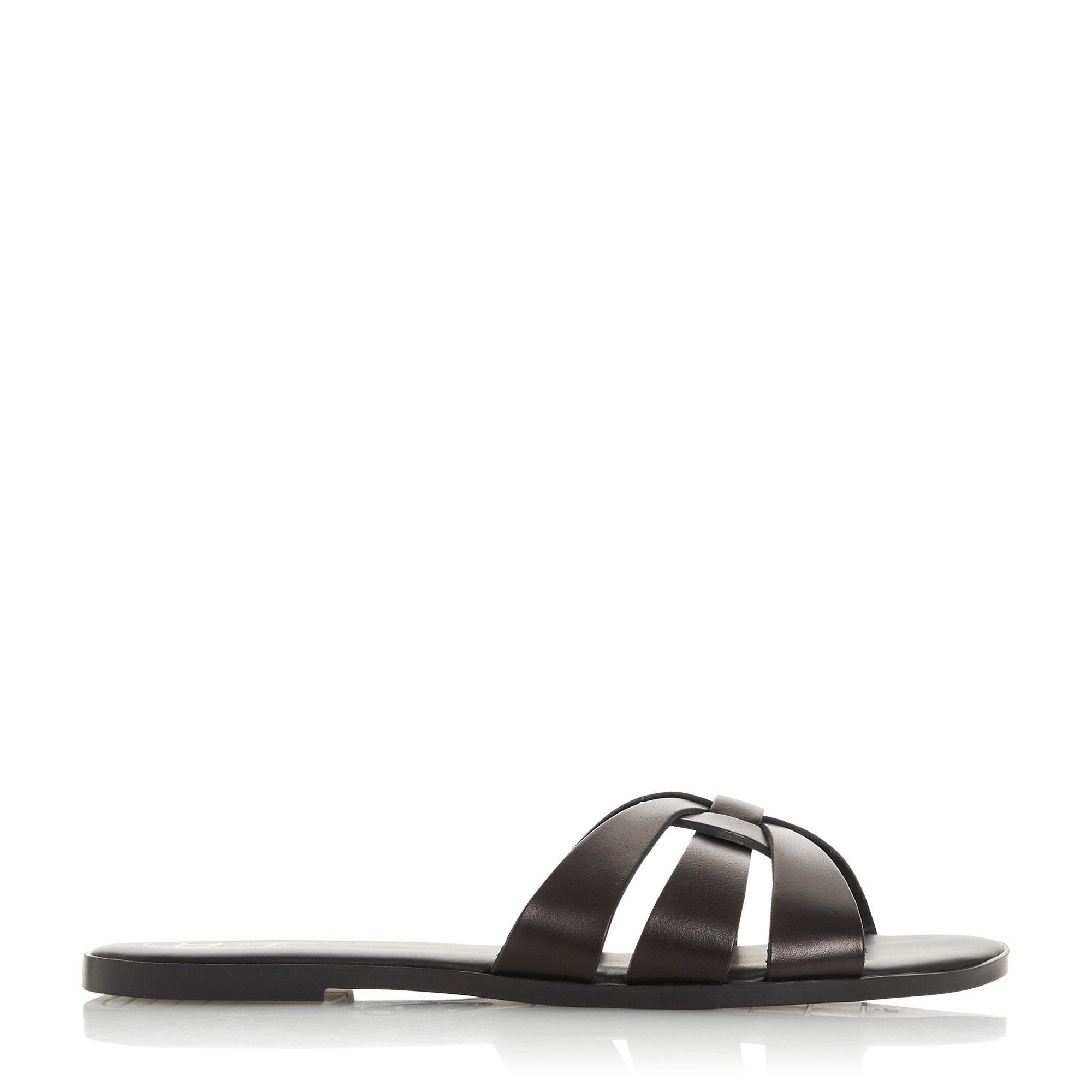 Dune Ladies LEMONIA Woven Strap Slider Sandals