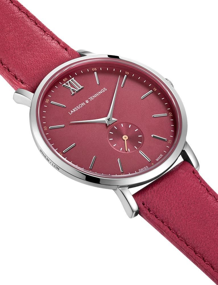 Jura Leather 38mm Silver Red
