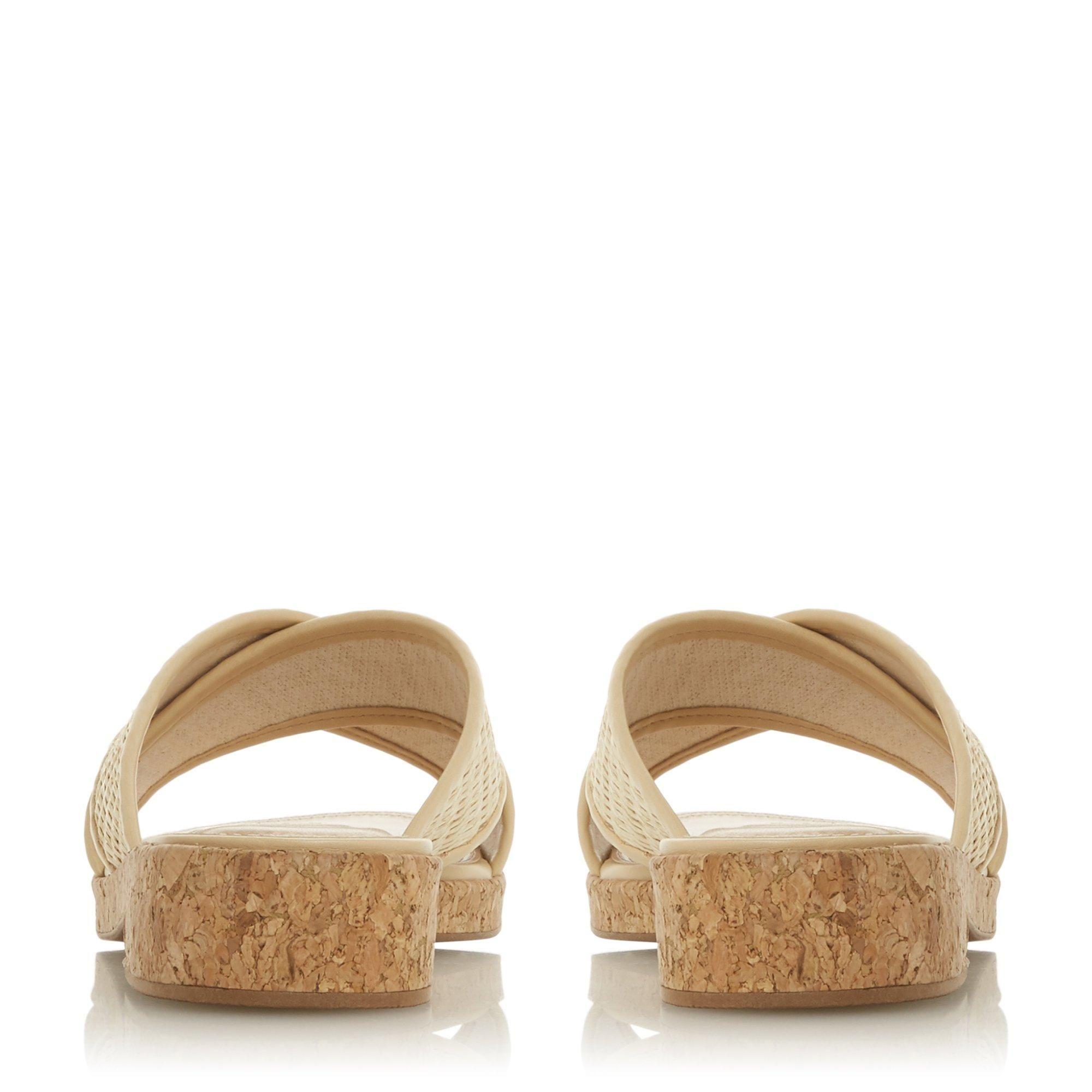 Dune Ladies LILIANNA Cross Strap Slider Sandals