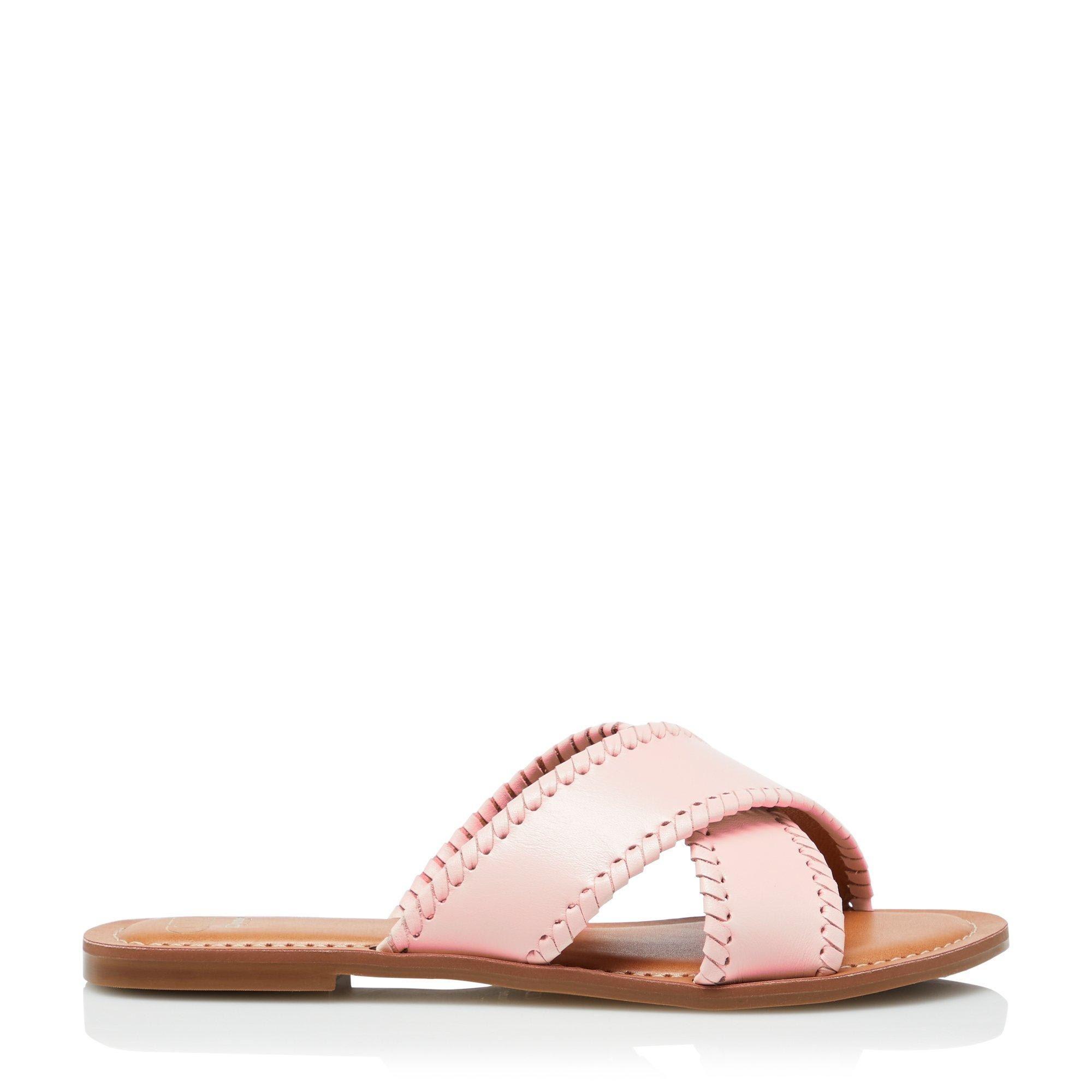 Dune Ladies LINDSY Cross Strap Whip Stitch Sandals