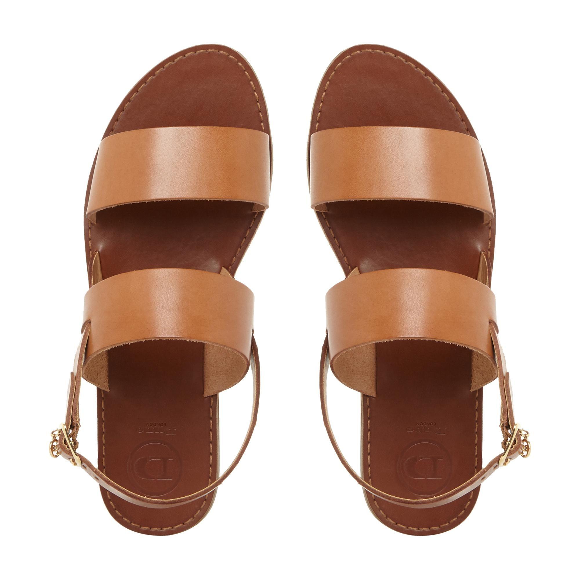 Dune Ladies LOWPEZ Double Strap Flat Sandals