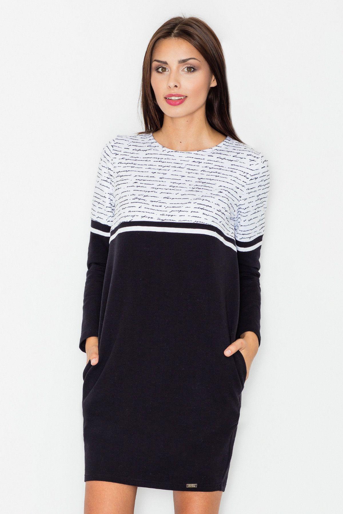 Black Casual Cotton Dress
