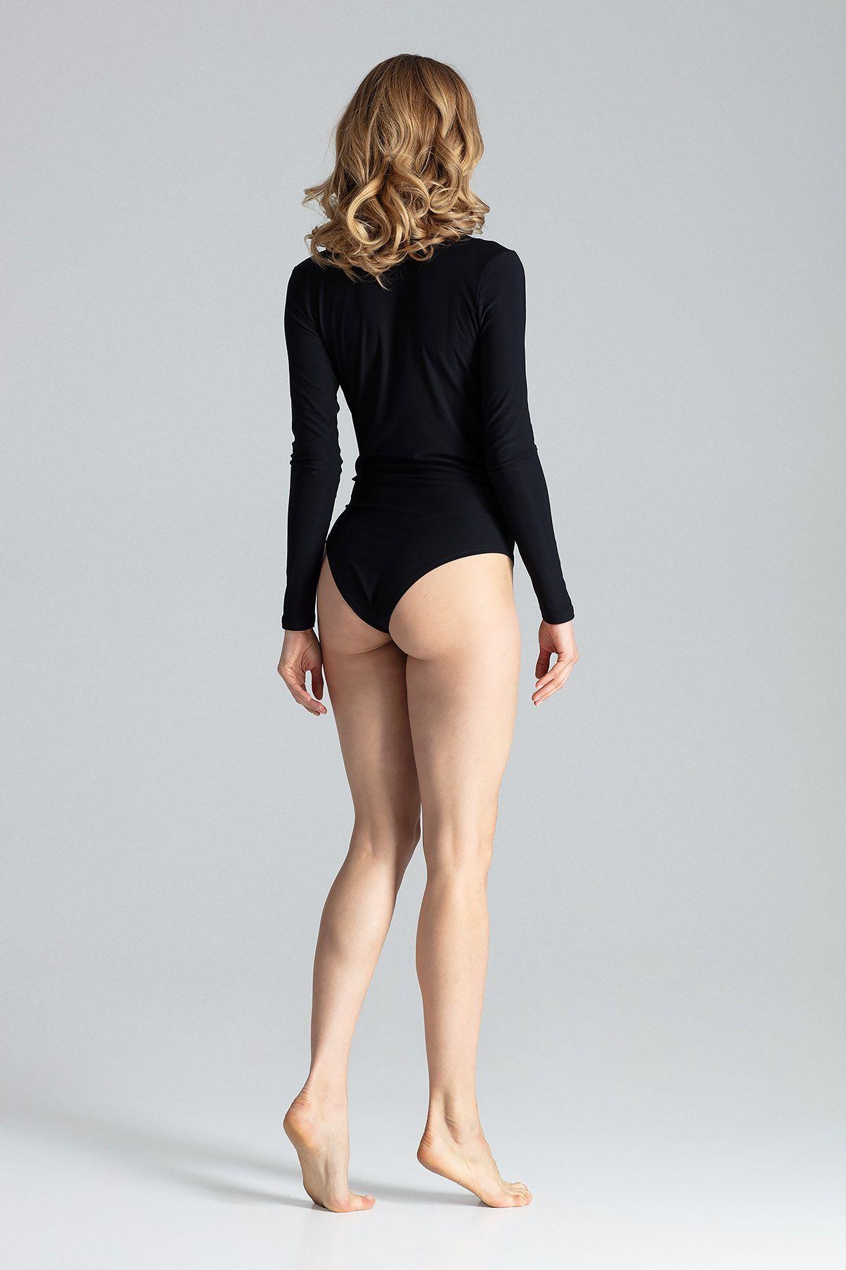 Black Elegant V-Neck Body