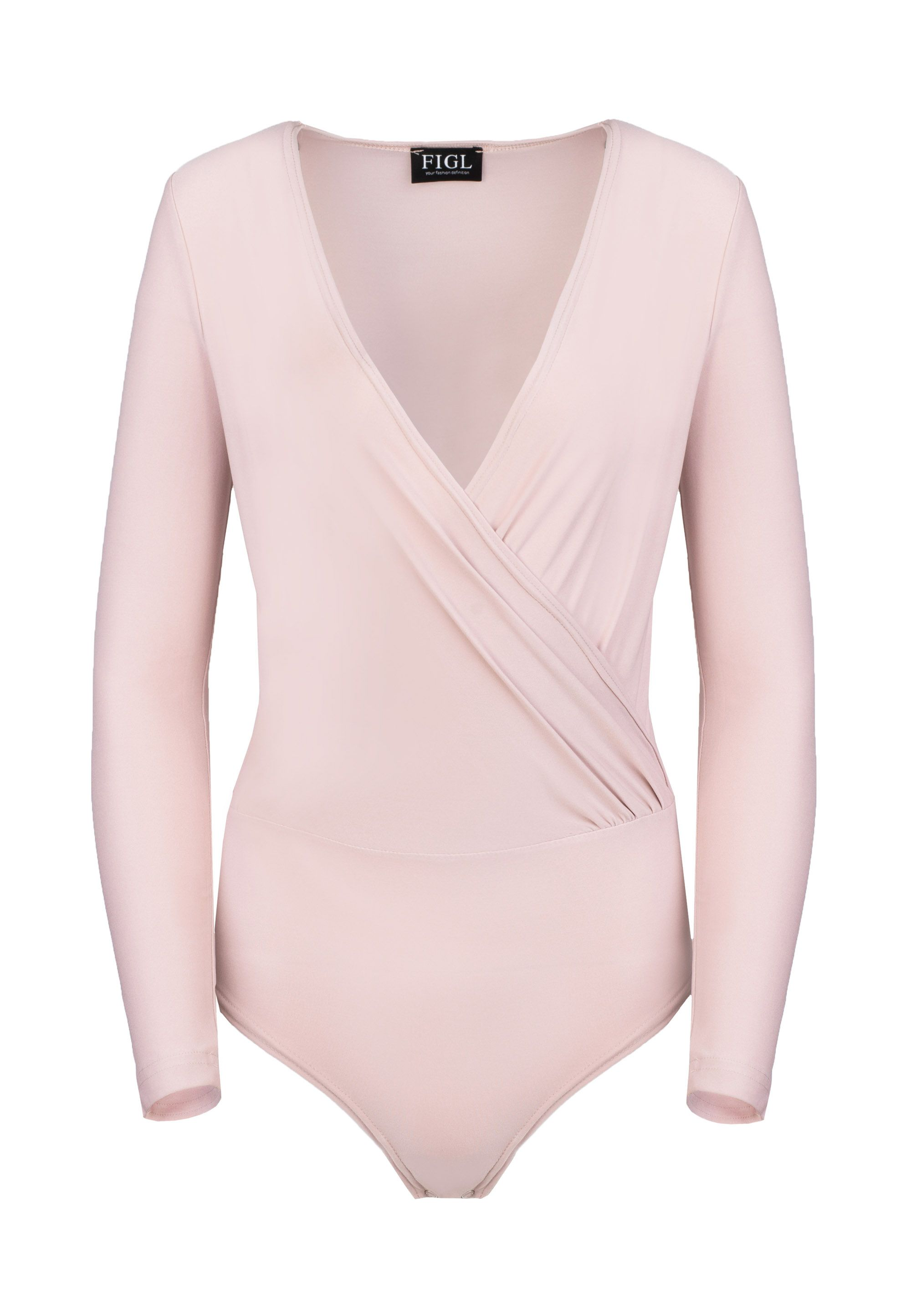 Pink Elegant Long-Sleeve Body