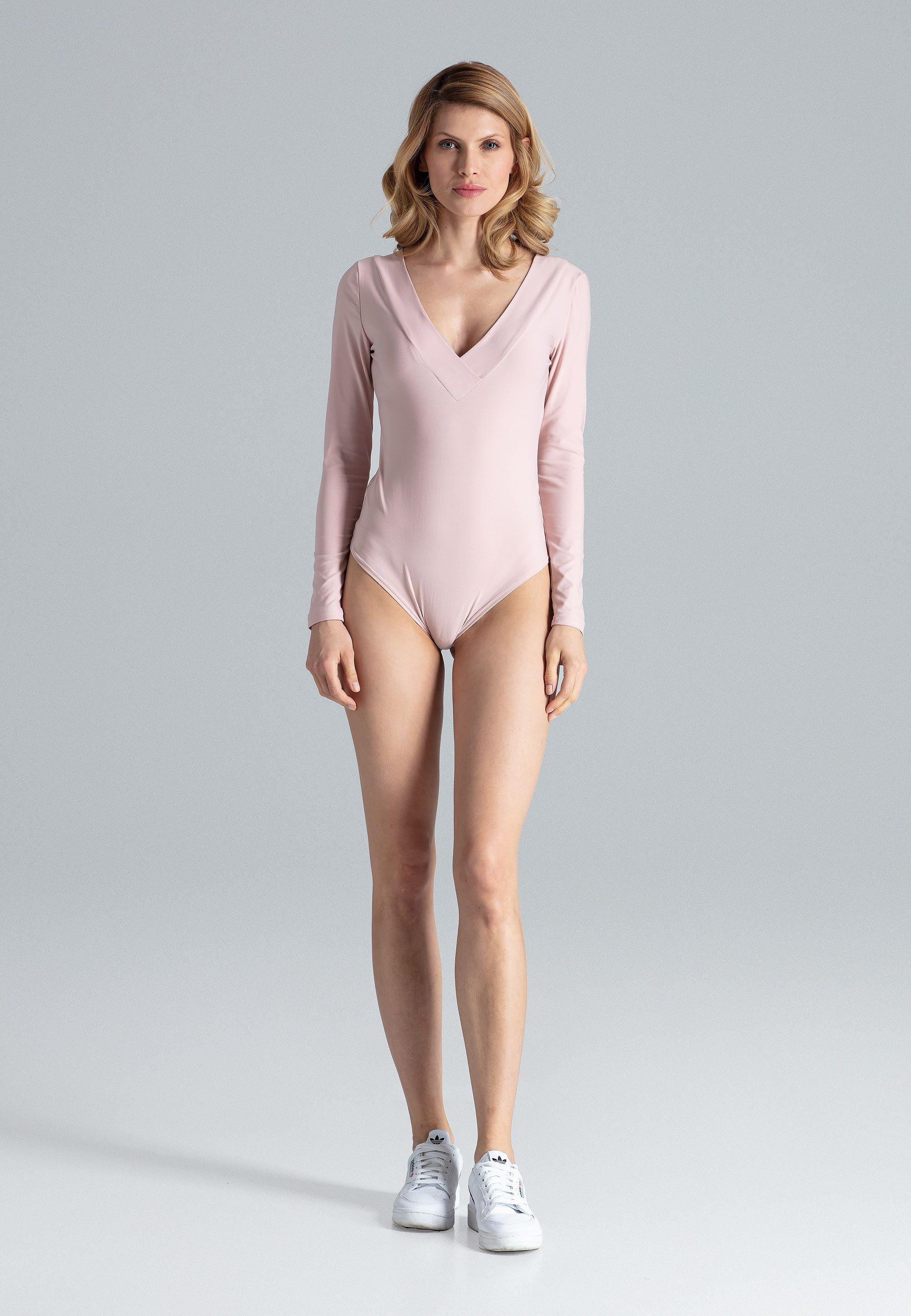 Pink Elegant Cut-Out Back Body