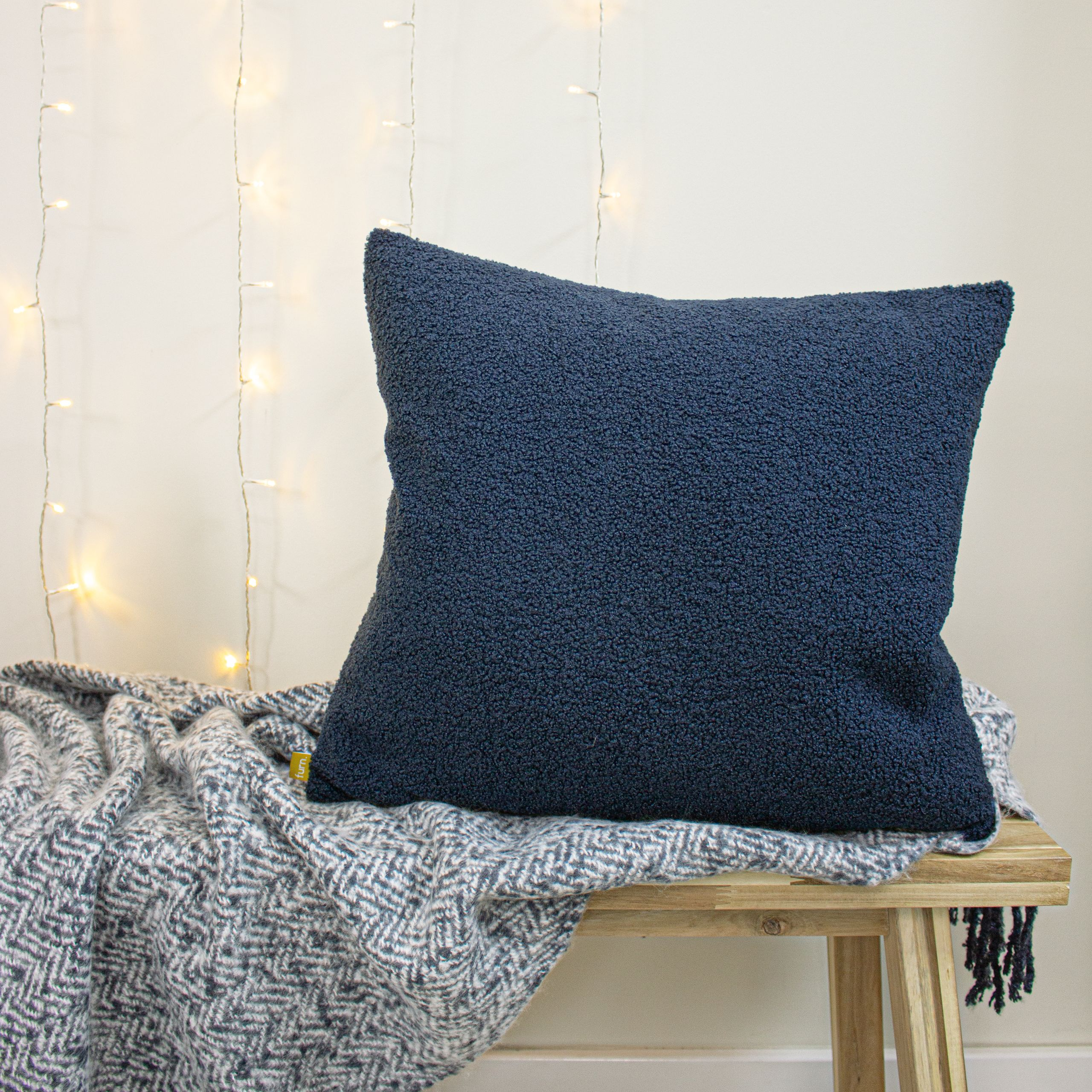 Malham Shearling-Feel Fleece Cushion