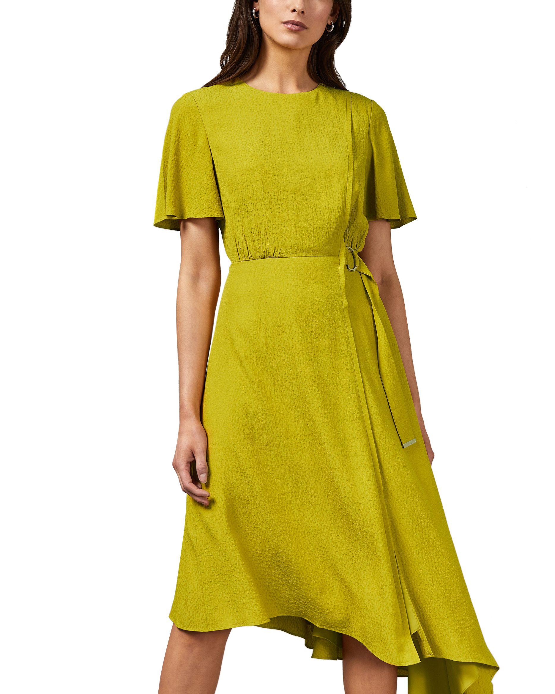 Ted Baker Marniee Asymmetric D Ring Detail Dress, Light Green