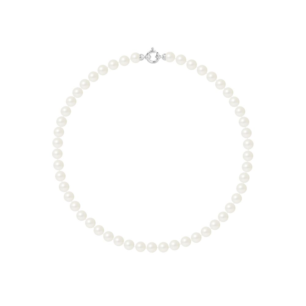 DIADEMA - Necklace - Princess - Real Freshwater Pearls - White Gold