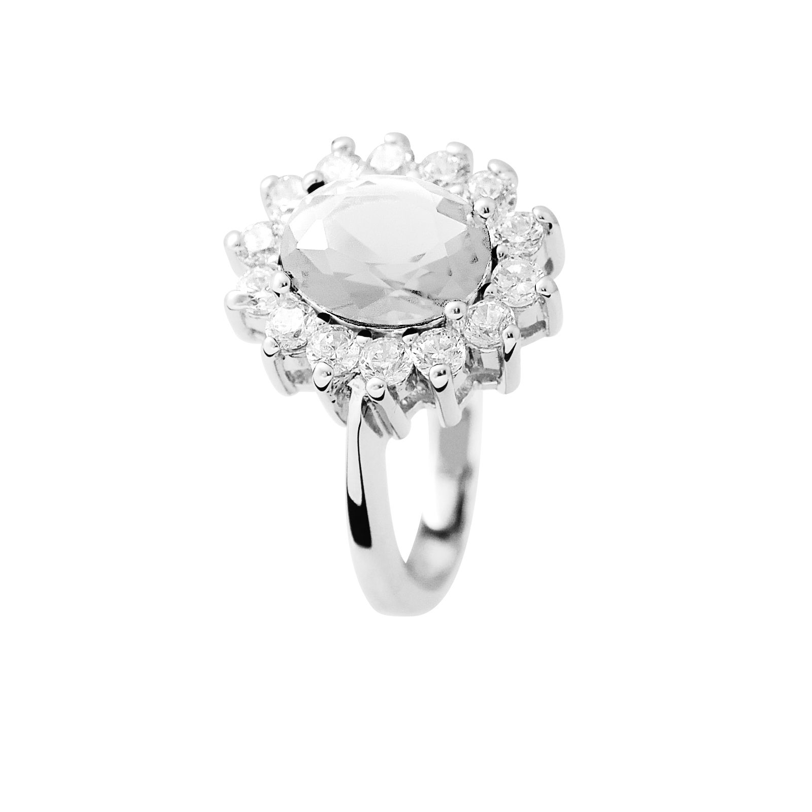 DIADEMA -  Ring - Crystal - Pure White Collection