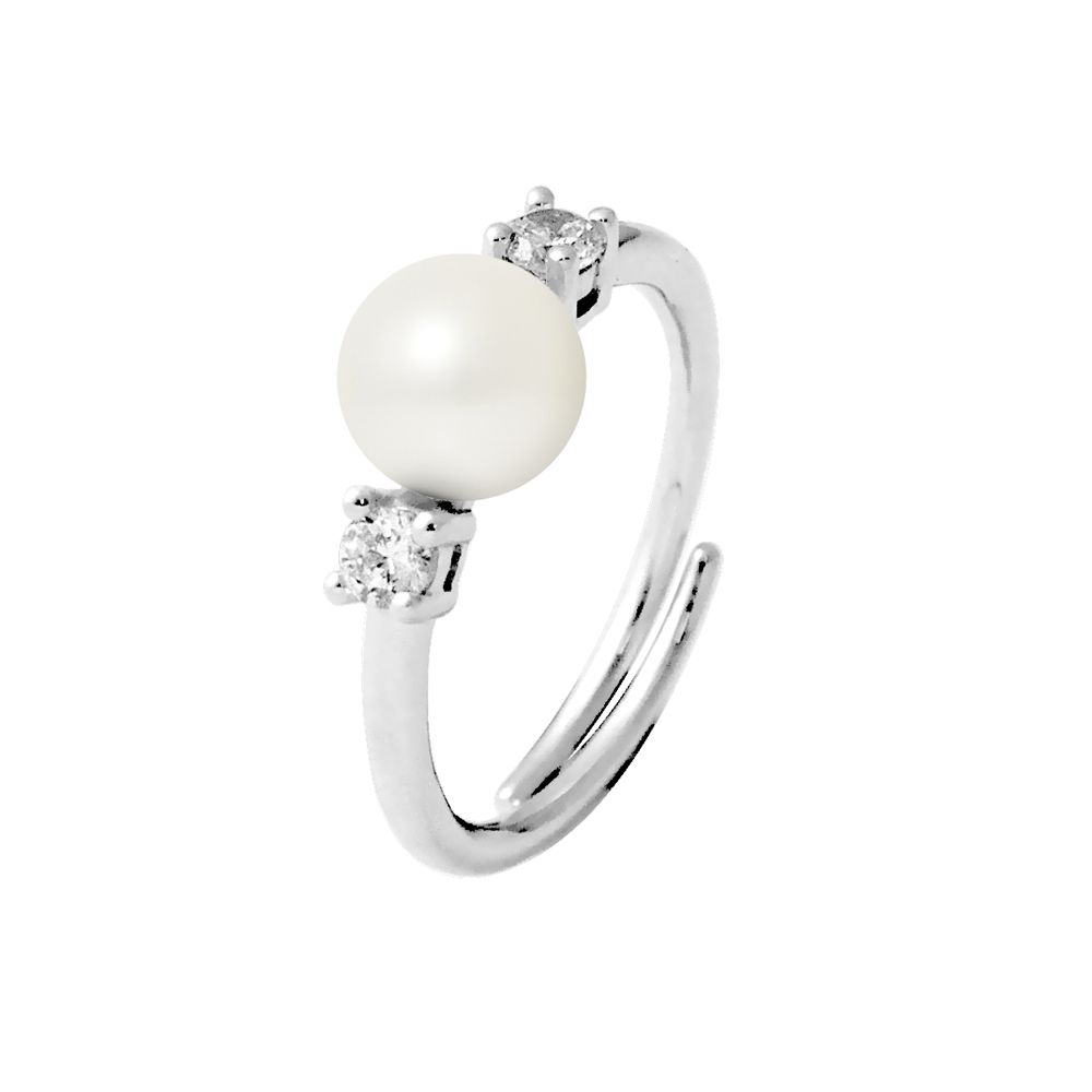 DIADEMA - Ring - Real Freshwater Pearls - White