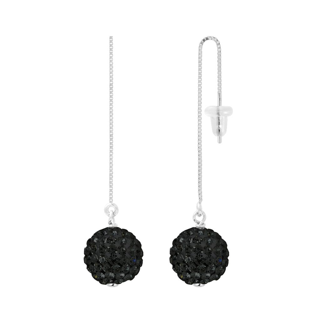 DIADEMA - Earrings Black Night -  Collection Crystal Pearl