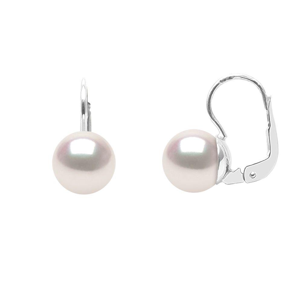 DIADEMA - Earrings - True Japanese Akoya Cultured Pearl - Quality AA+