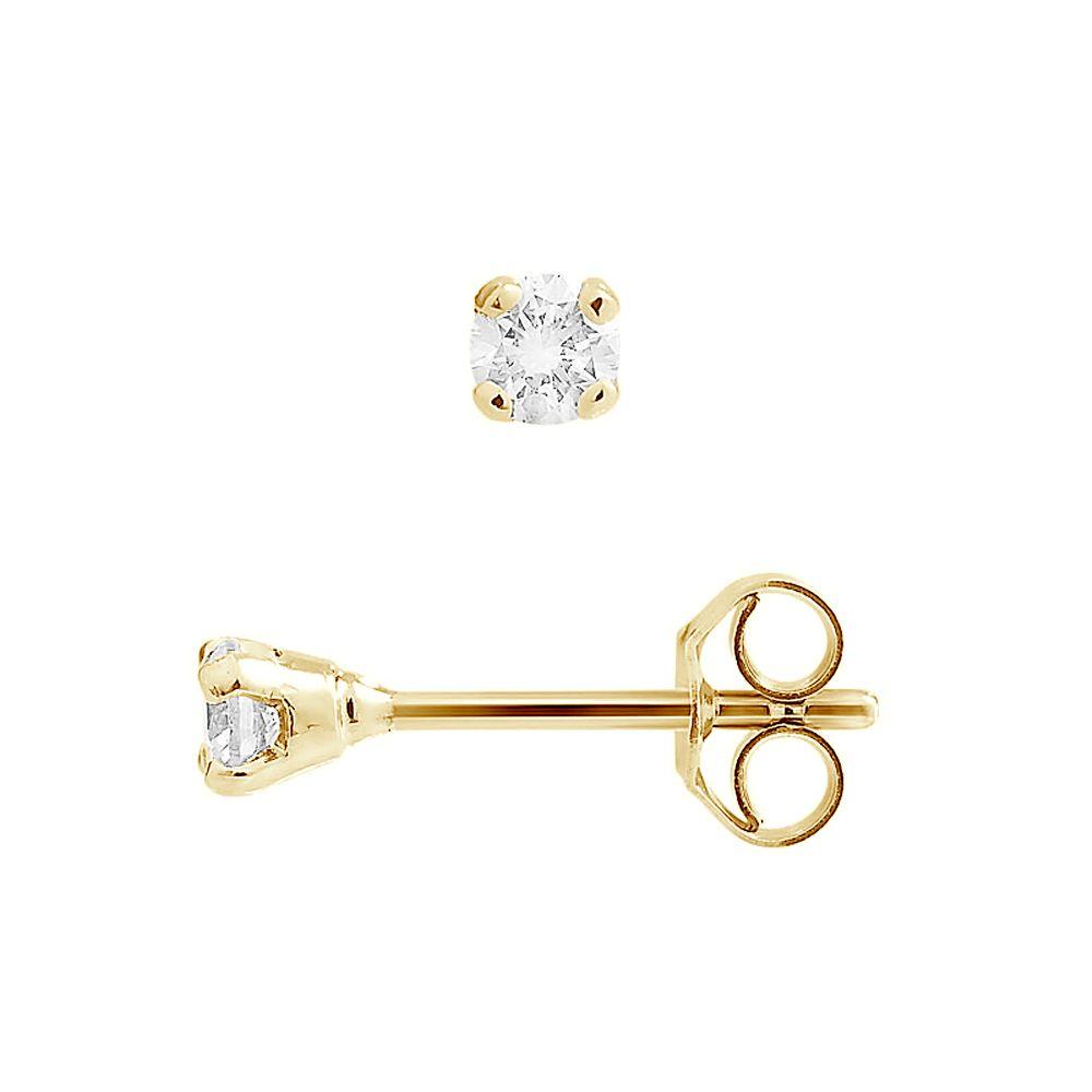 DIADEMA - Earrings with Diamonds - Yellow Gold