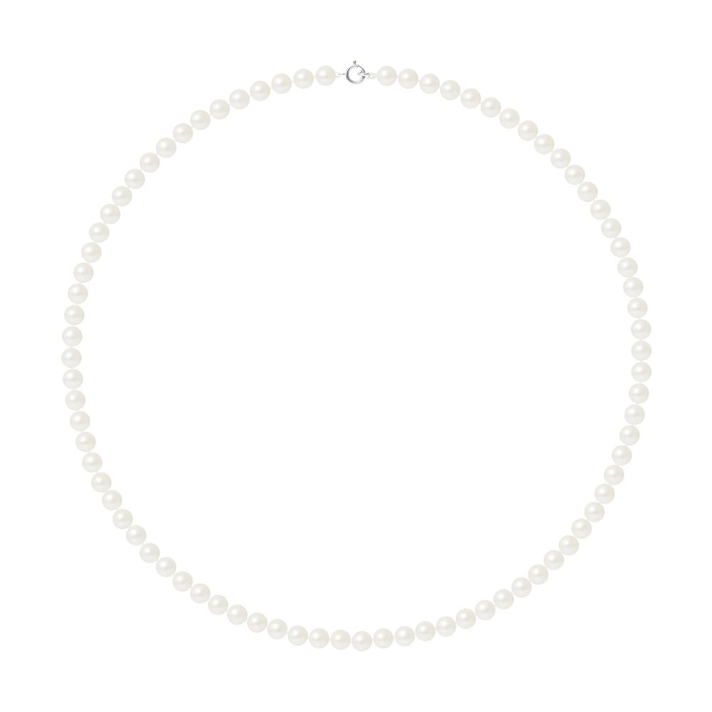 DIADEMA - Necklace - Real Freshwater Pearls - White - White Gold