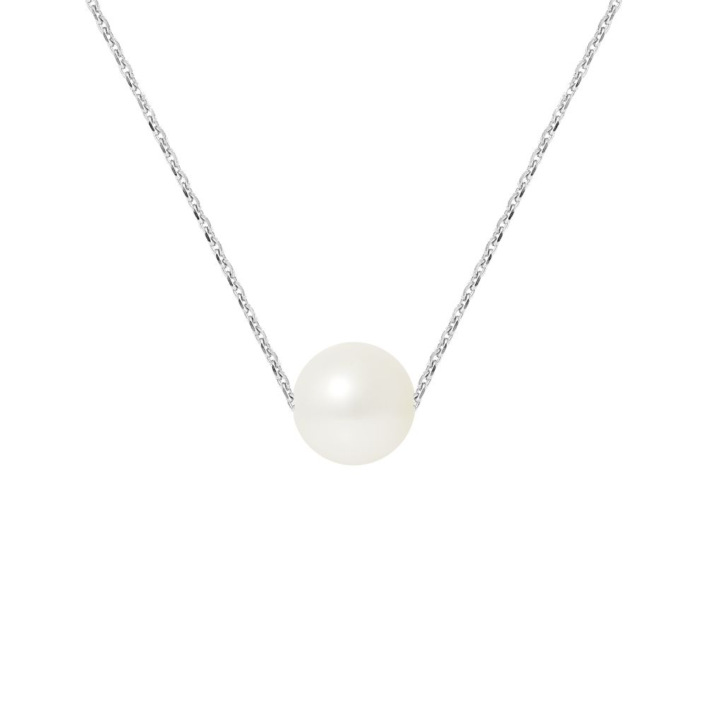 DIADEMA - Necklace - Real Freshwater Pearls - Silver