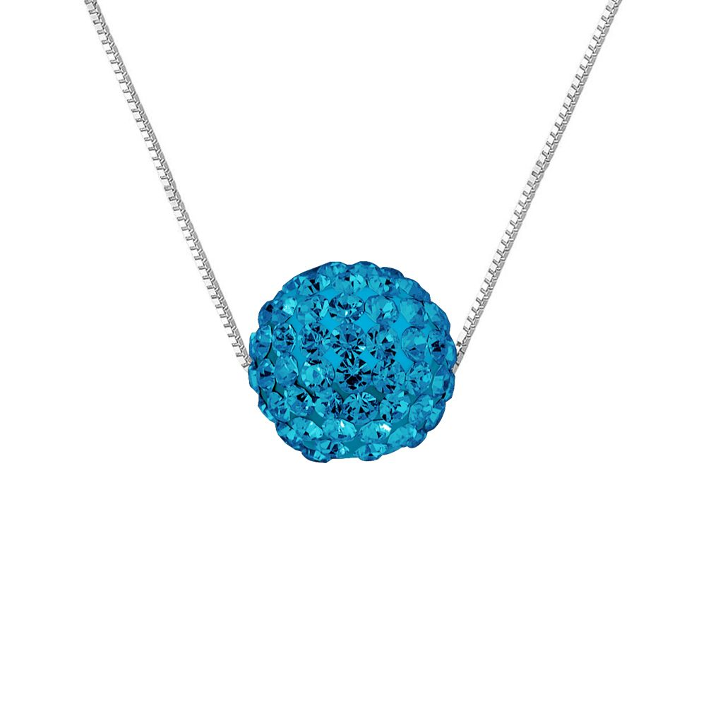 DIADEMA - Necklace - Crystal Blue - Love Jewelry Collection