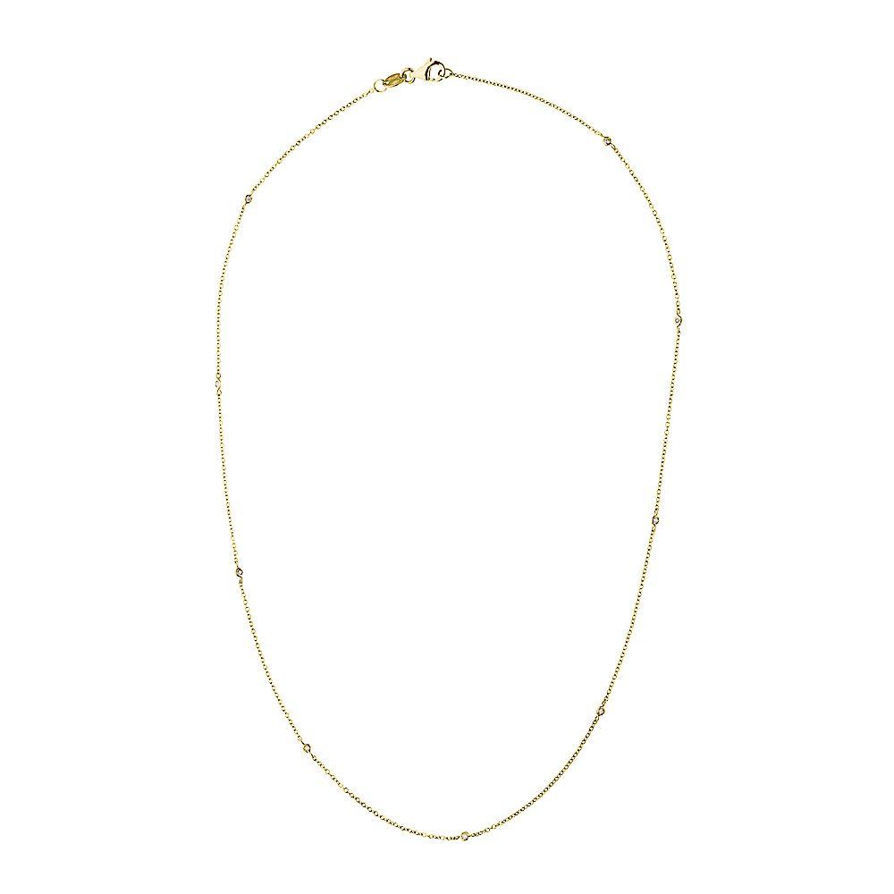 DIADEMA - Necklace Tiffany's - 9 Diamonds - Yellow Gold