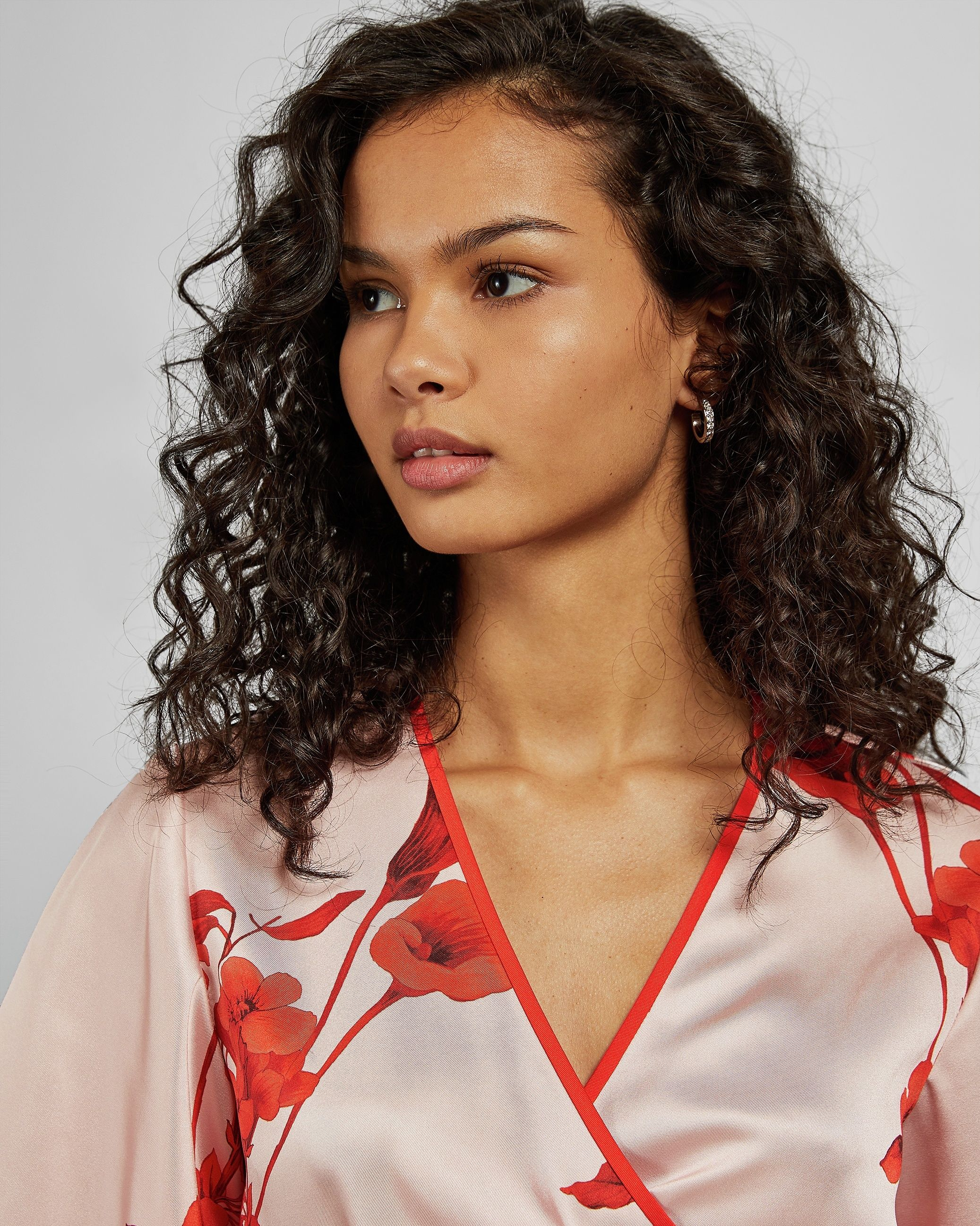 Ted Baker Melonyy Fantasia Wrap Top in Pale Pink