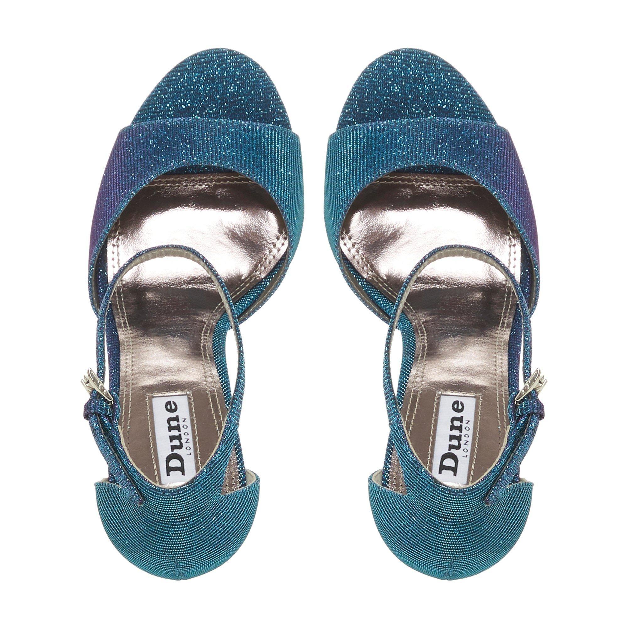 Dune Ladies MIDNIGHTE Lurex Two Part Sandals