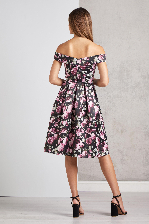 Off The Shoulder Rose Prom Dress